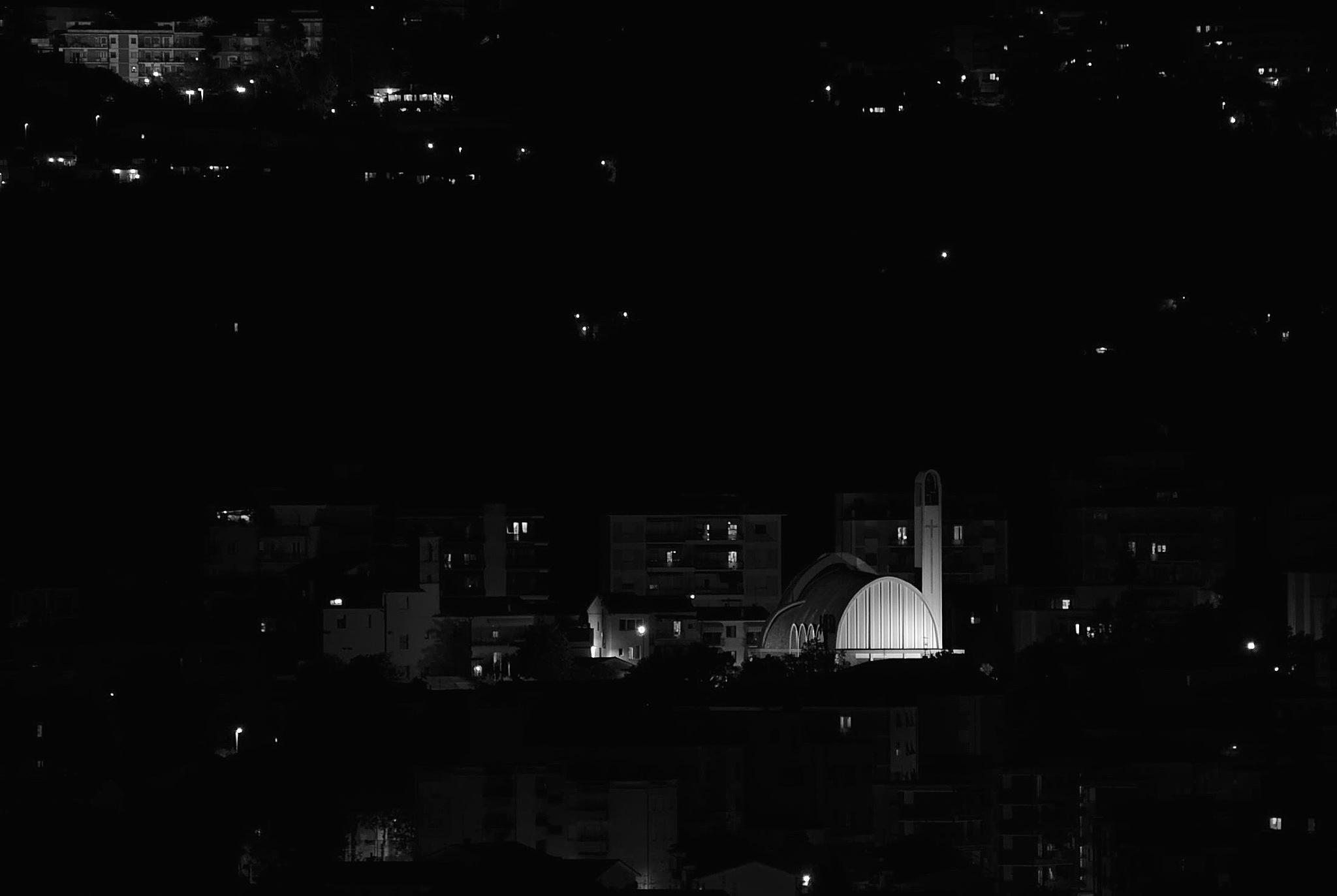 Lights on the Church of Santa Maria delle Grazie .. Ancona .. Italy .. !! by Mario Beducci