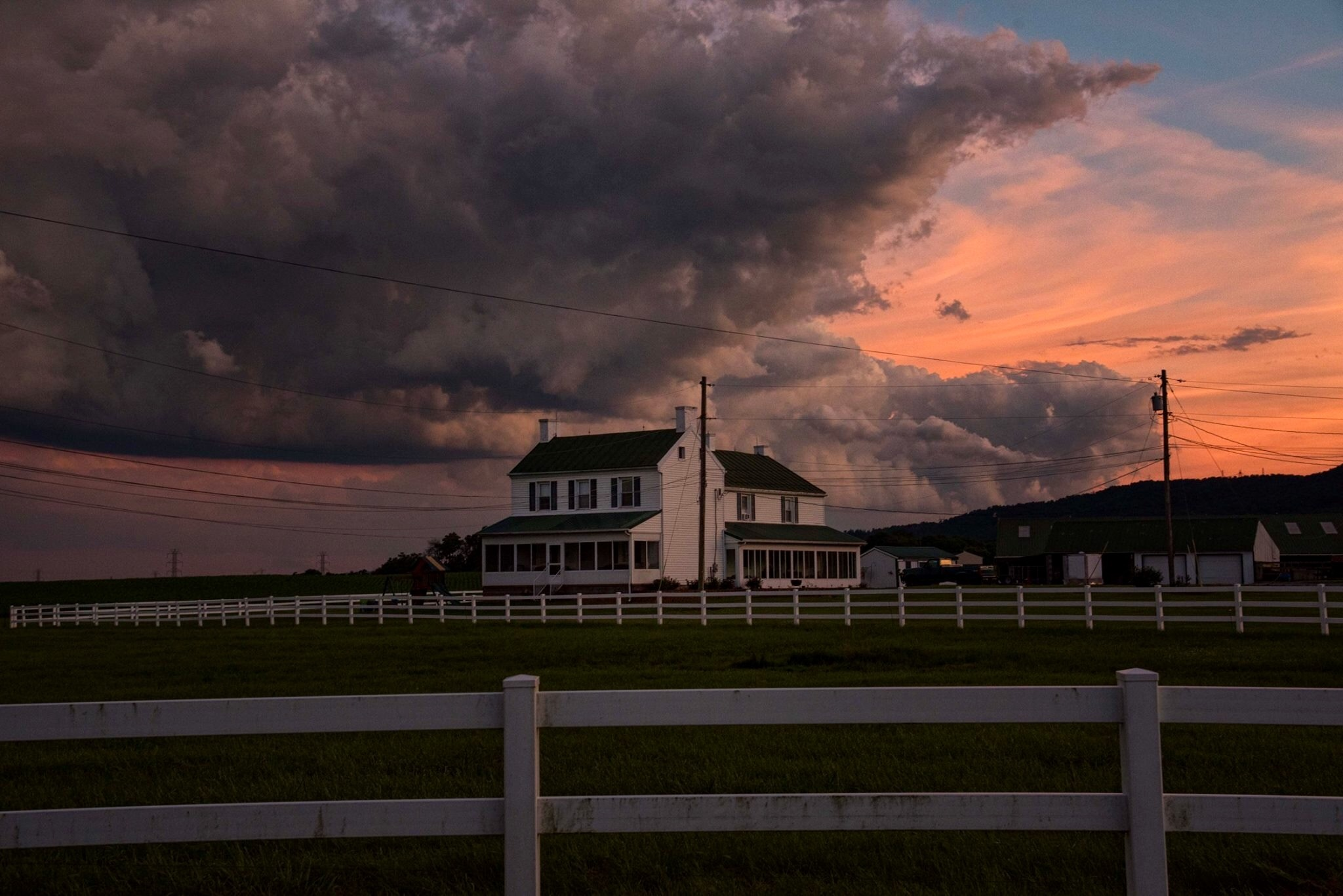 Stormy skies by Valerie Dyer