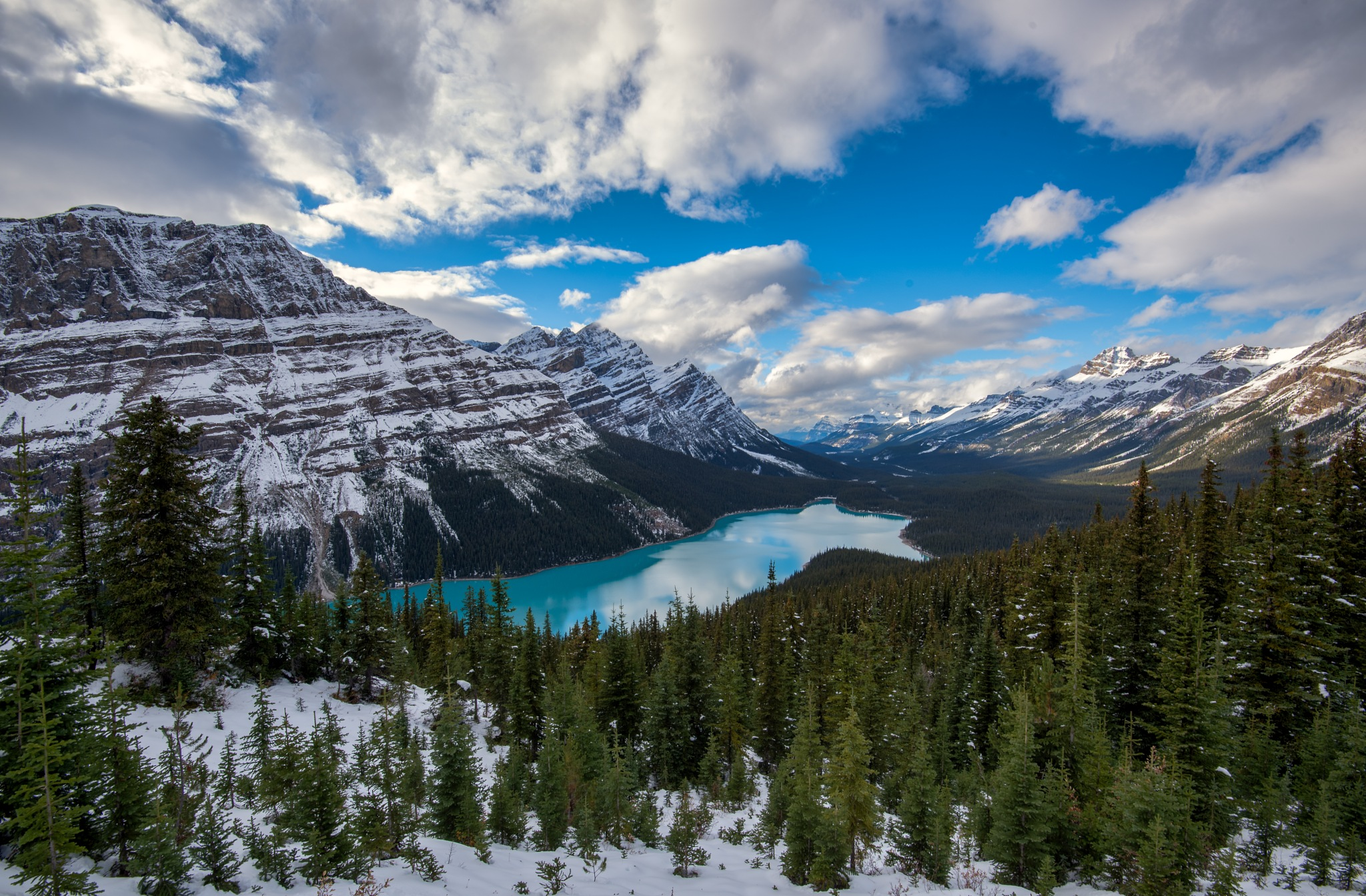 Reflections is Peyto Lake by Valerie Dyer