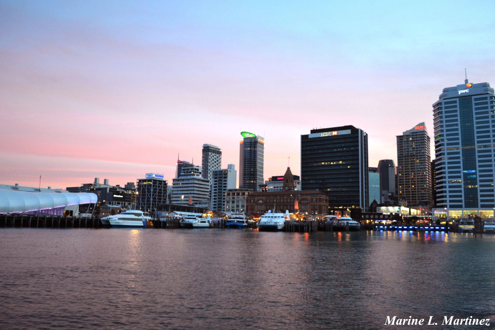 Auckland Port by Marine Martinez