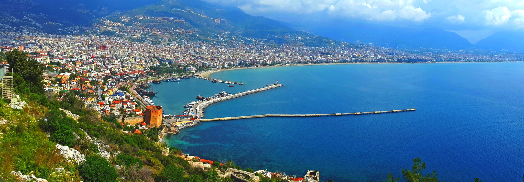 Photo in Landscape #alanya port see port landsc