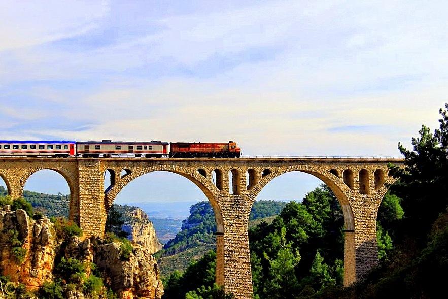 Photo in Landscape #landscape #bridge #train #adana #geography