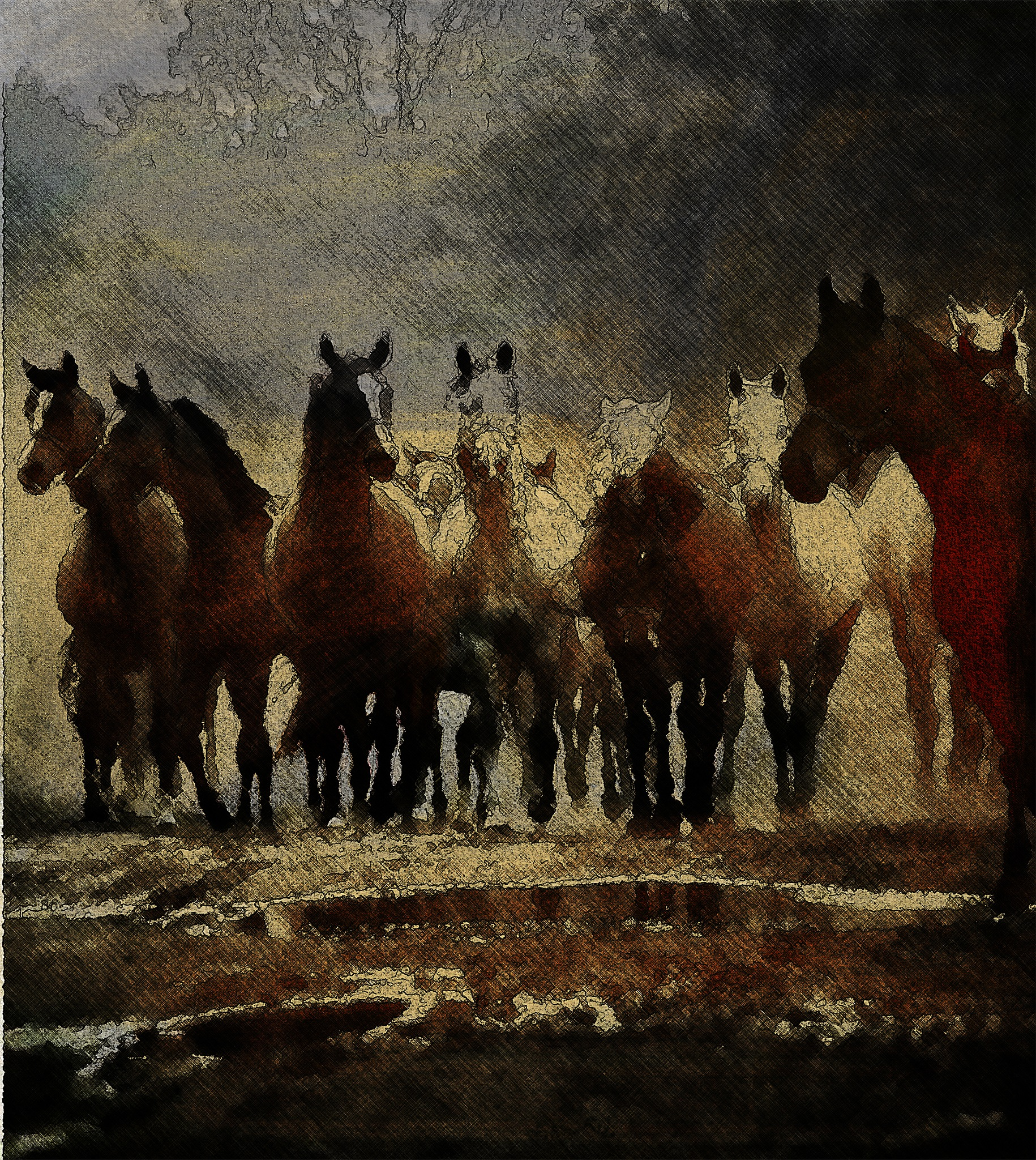 Horses by fasoyarat