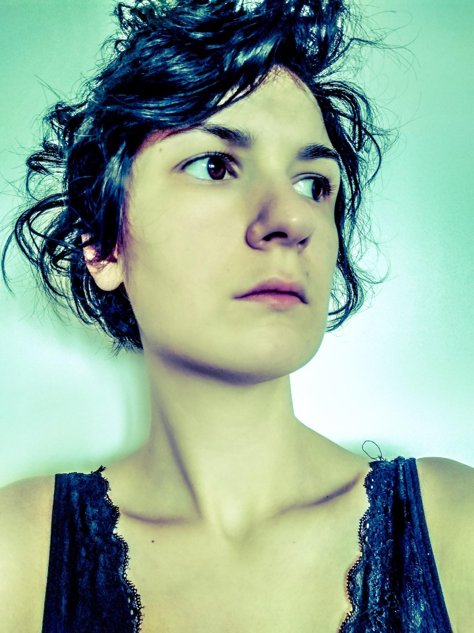 Photo in Portrait #advancedselfie #selfportrait #love #blackandblue
