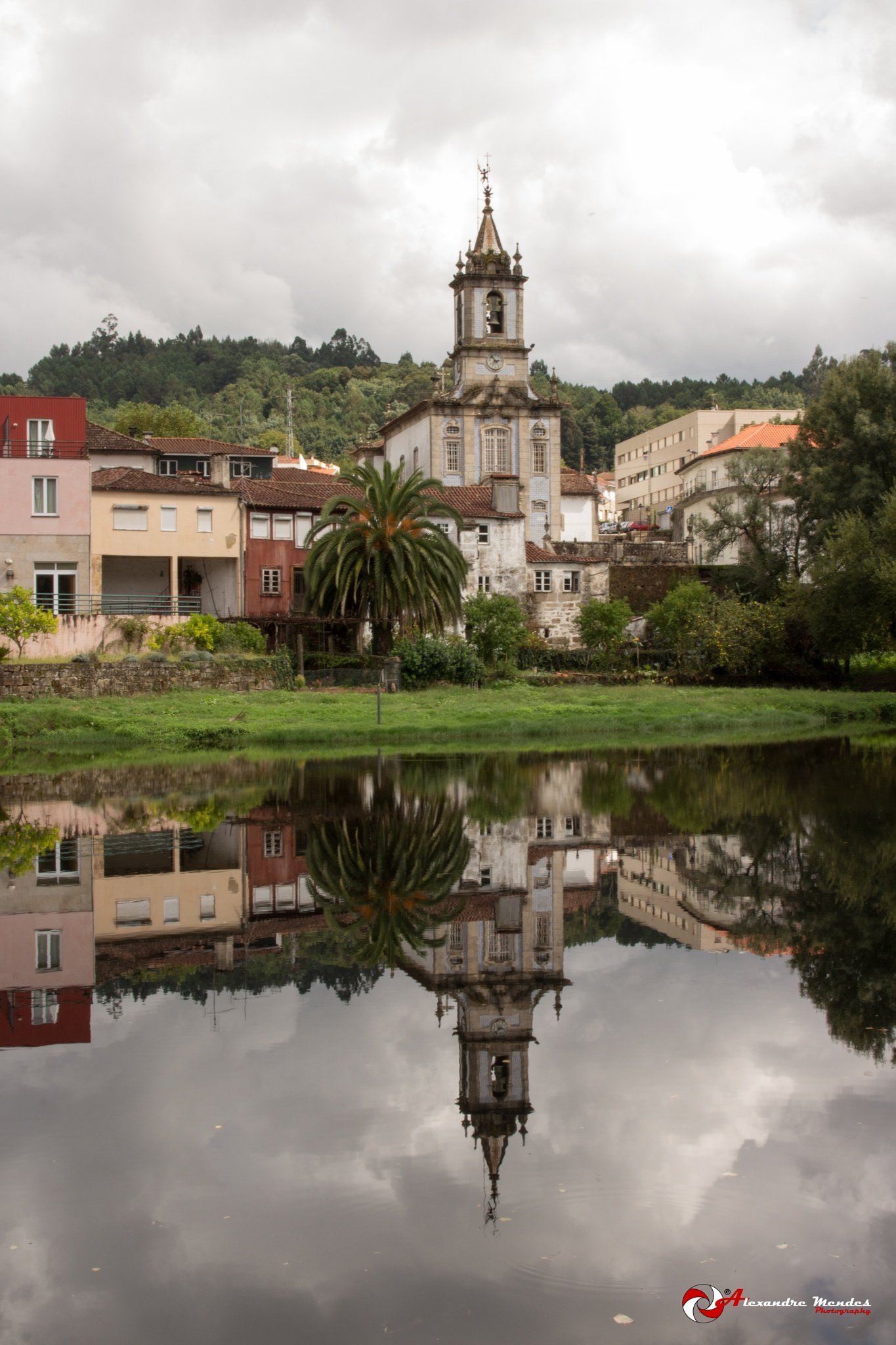 Photo in Street Photography #church #arcos de valdevez #portugal #reflection #river