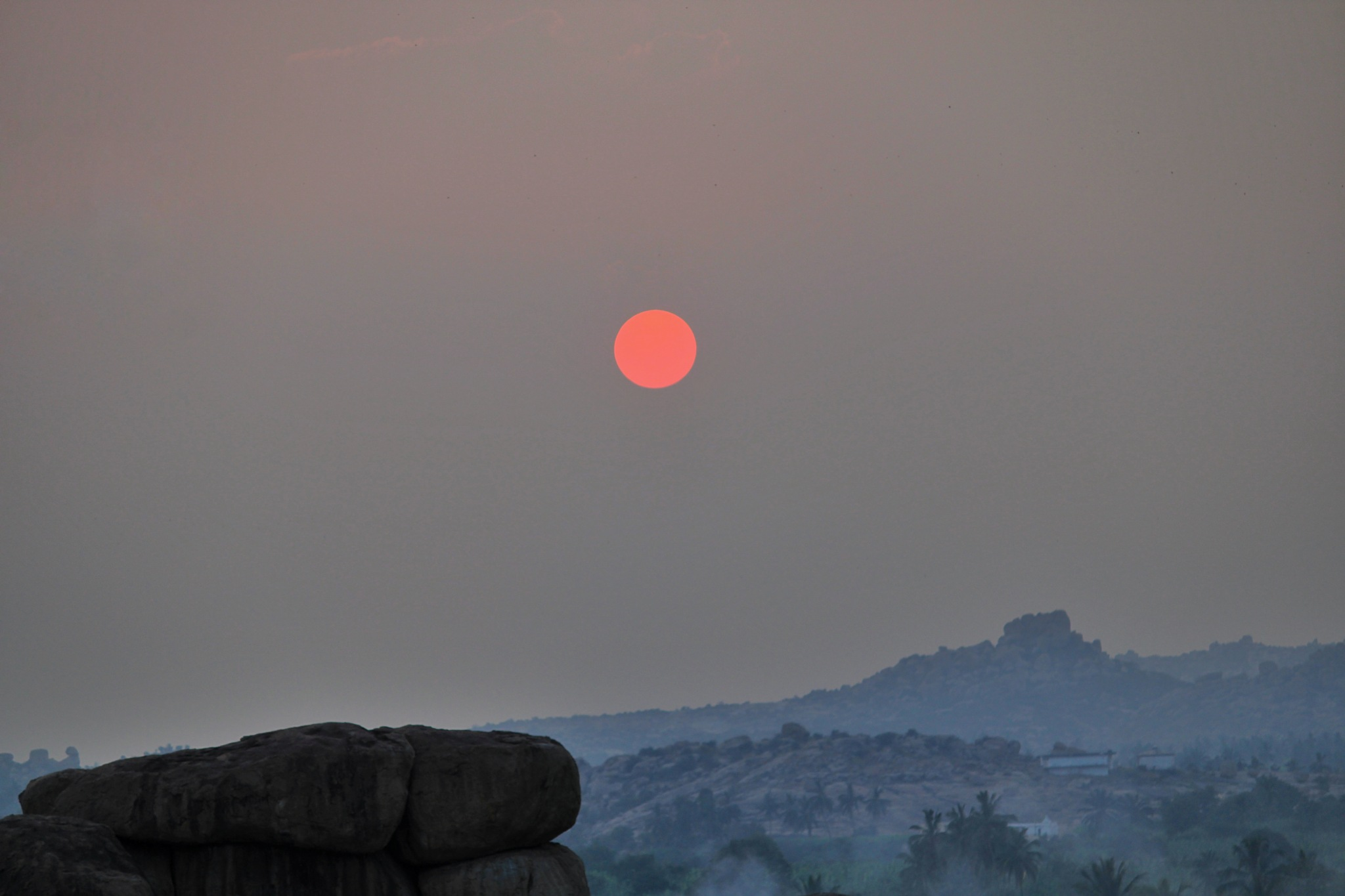 Sunset at Hampi by Sreegovind K