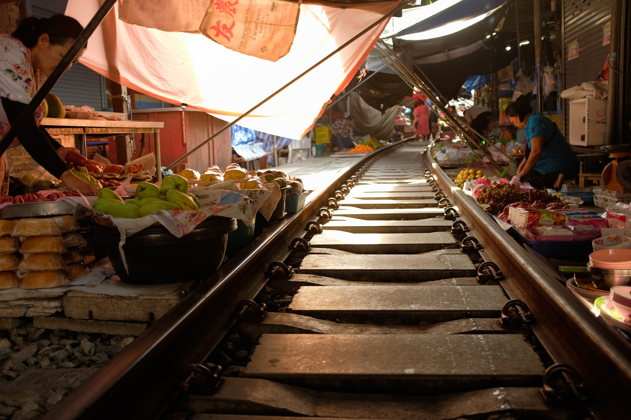 Photo in Street Photography #street_photography #travel #thailand #asia #southeast_asia #thai_people #people #train_market