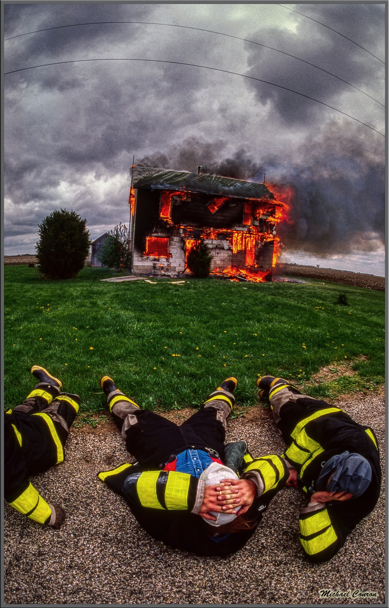 Photo in Random #house #house fire #firemen #burning #midwest