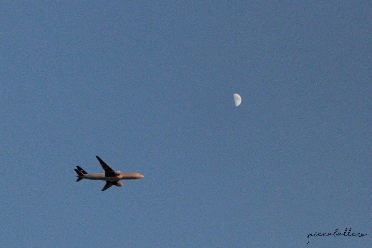 Photo in Random #lyrics and photo #airplanes #moon #astrophotography