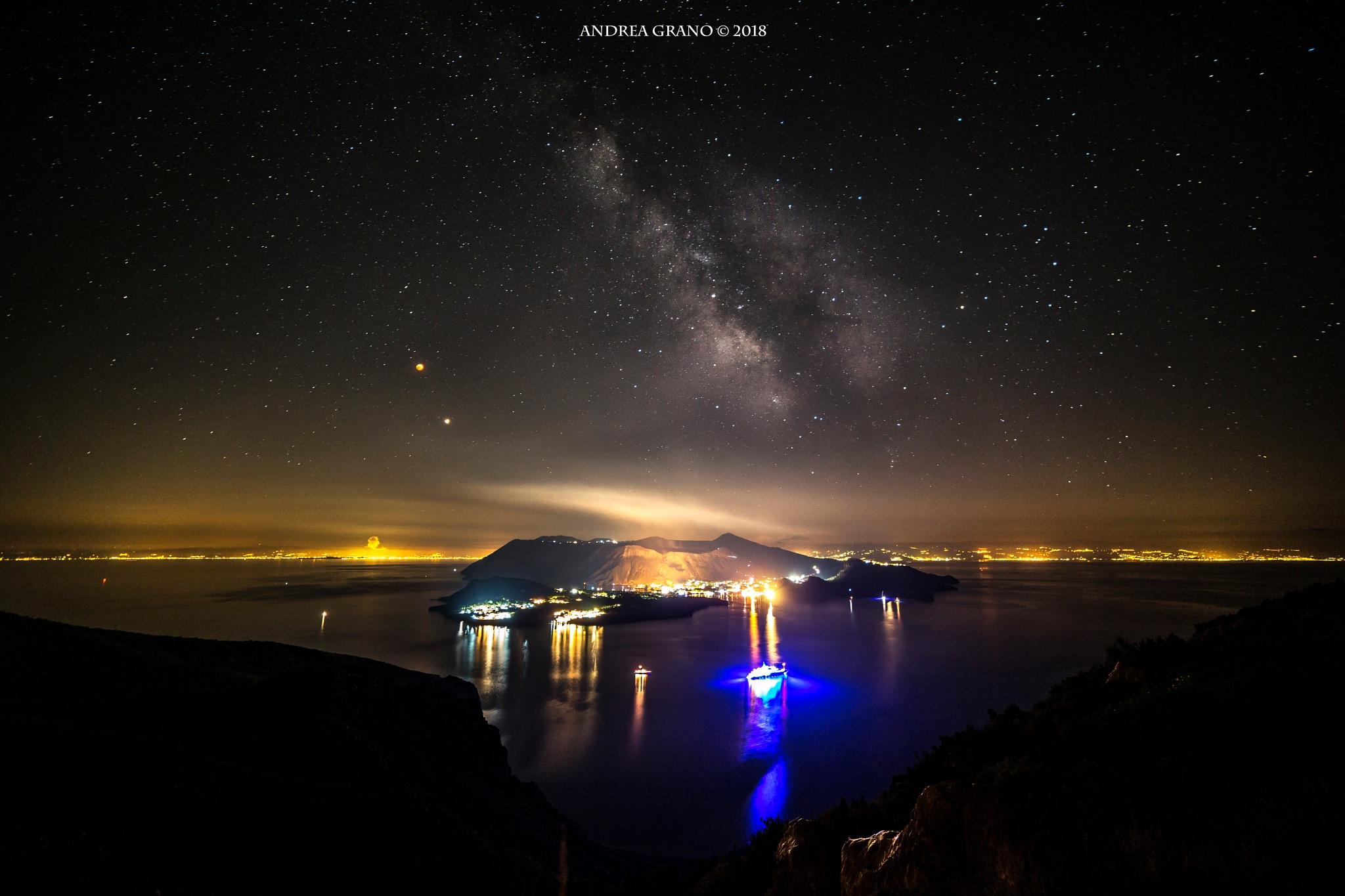Milkyway over Vulcano by Andrea Grano