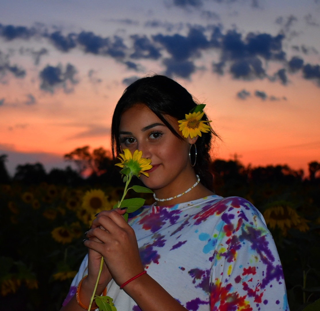 Photo in Portrait #sunflower #sunflowerfield #sunset #flowerpower #tiedye #colorful #beautiful #ohioisbeautiful #portrait