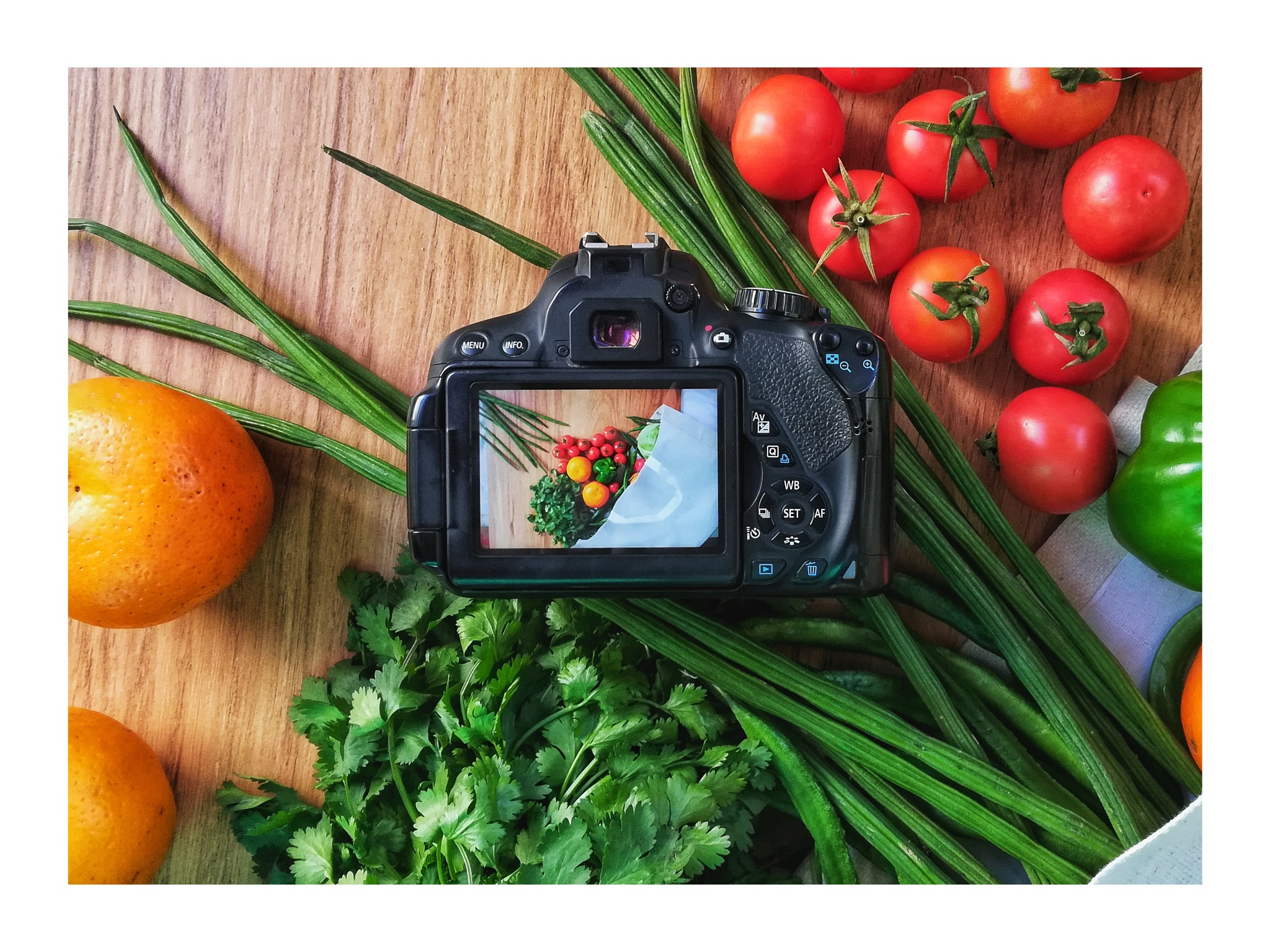 Photo in Food #flatlay #product #fresh #vegetable #photography #camera #behind the scene