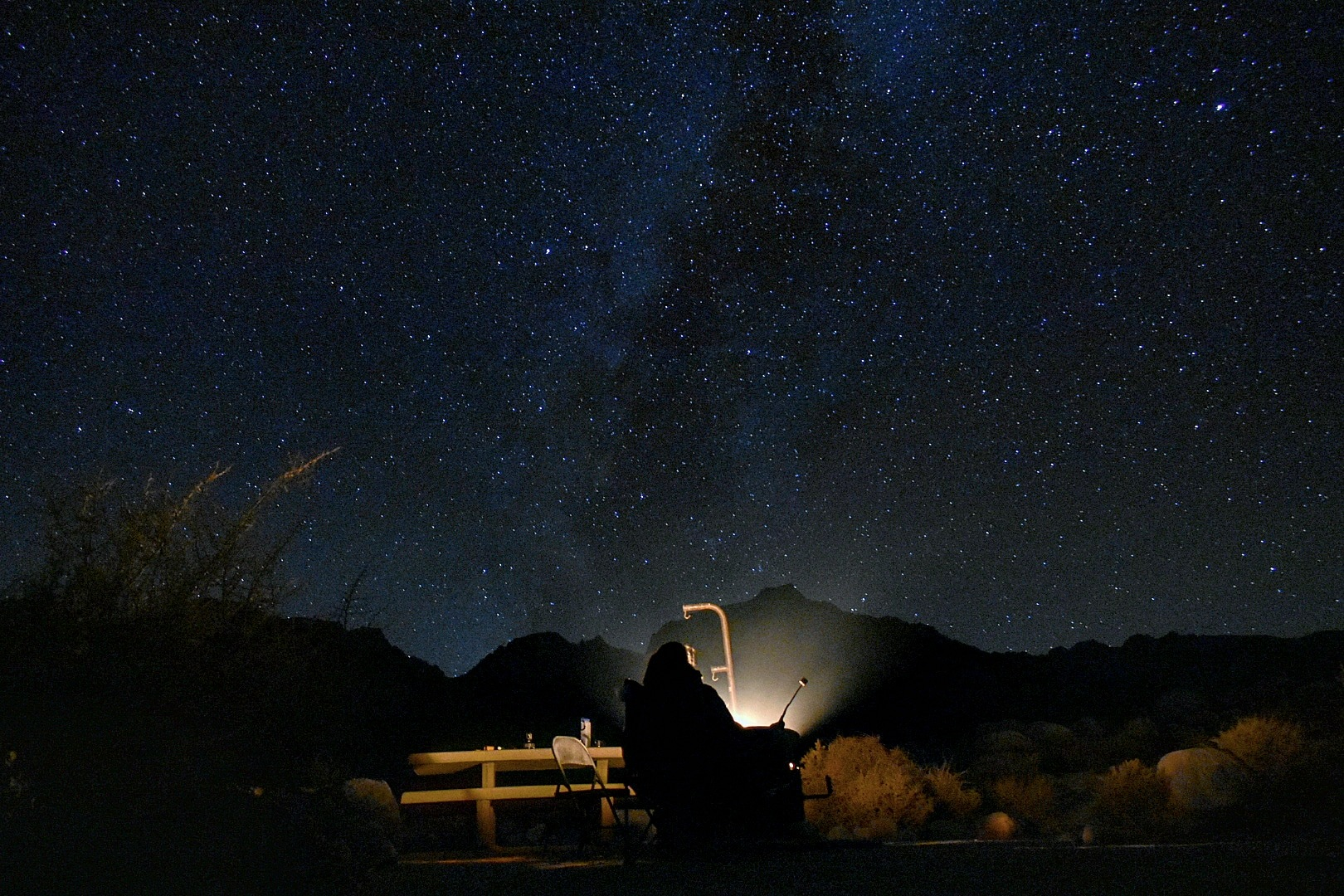 Photo in Astrophotography #nightphotography #milkyway #camping #backpacking