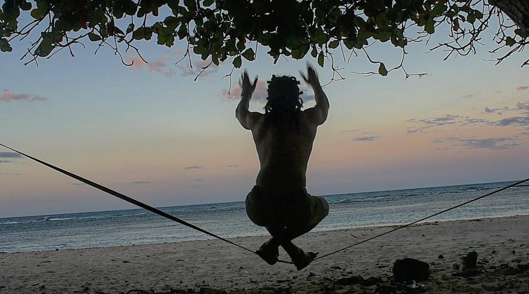 Photo in Sports #slackline #beach #life #sunset
