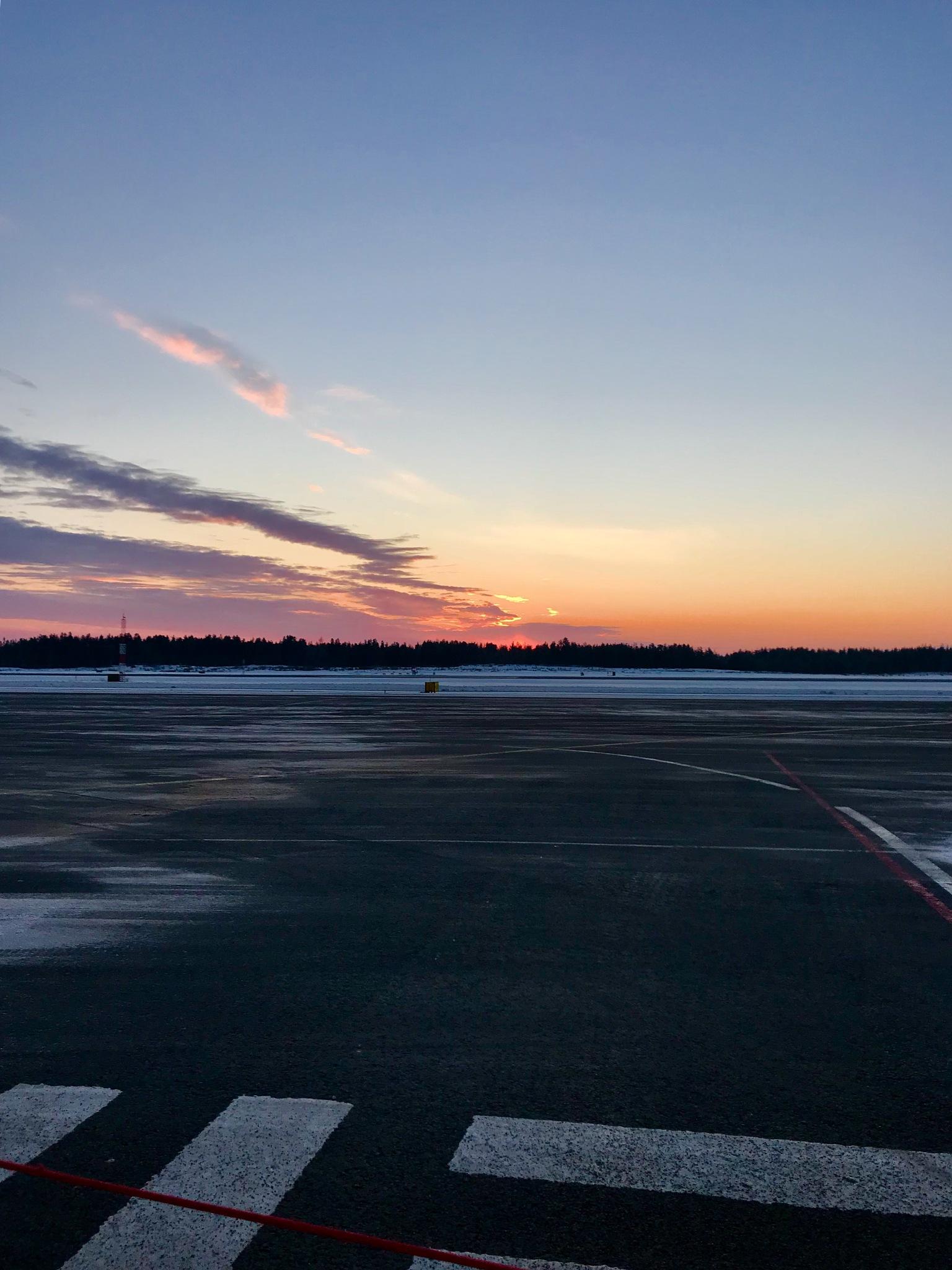 Oulu Airport at Christmas by Pilvi Pouta-Manninen