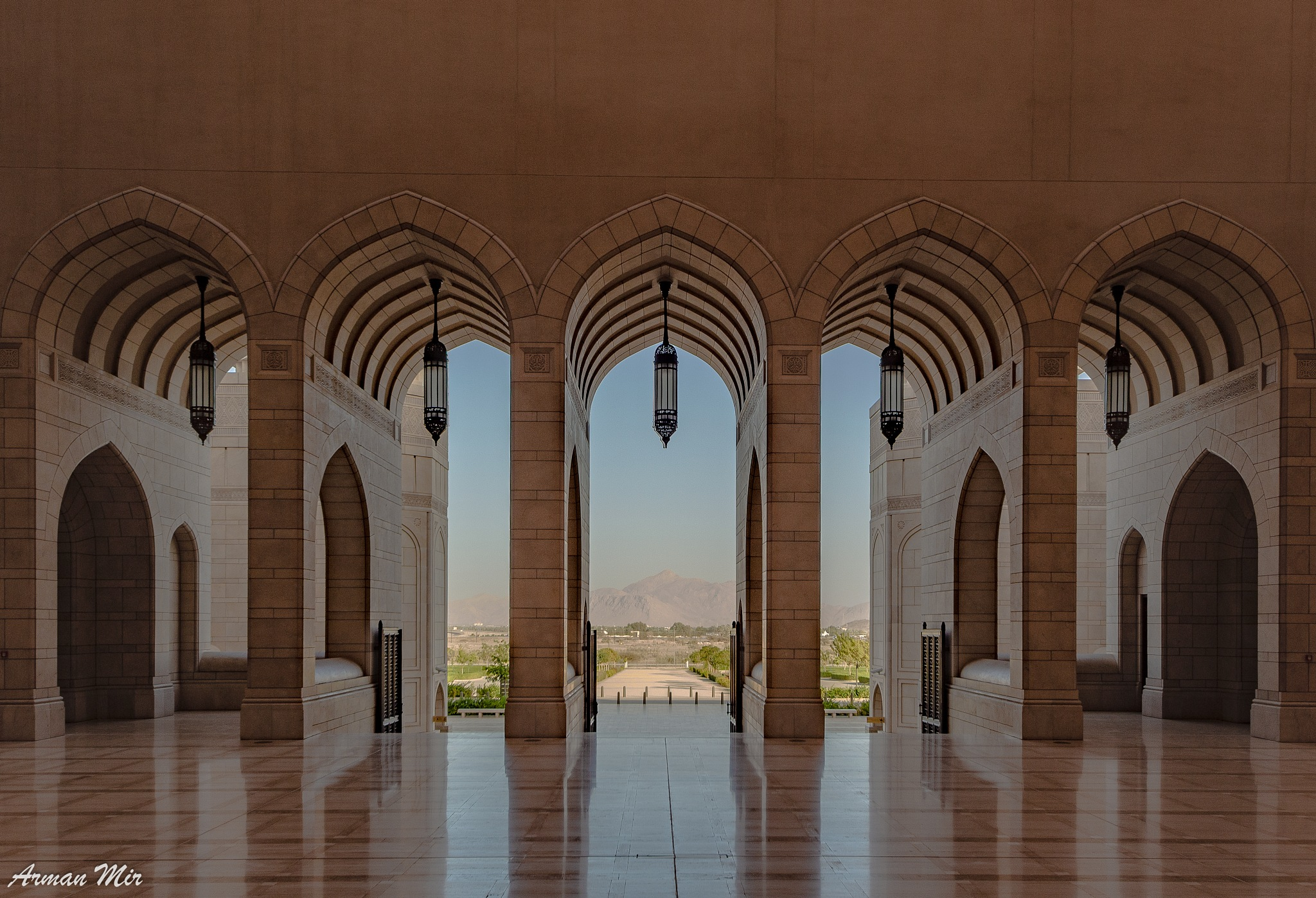 Photo in Travel #nizwa #oman #mosque #grand mosque #sultan qaboos #omani #arches #symmetry #travel #muslim #islam #islamic #architecture #islamic architecture #vacation