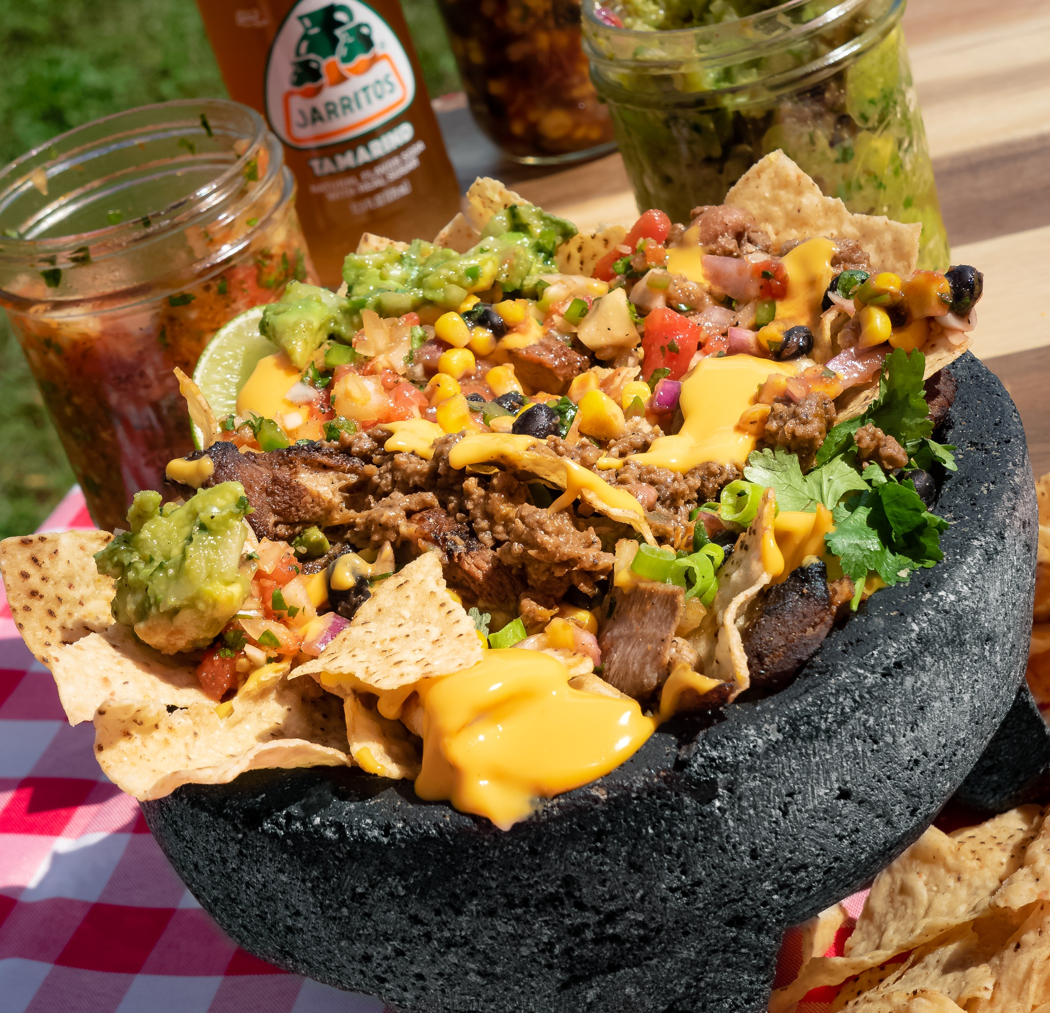 Photo in Food #nachos #tacos #food #soda #cheese #pork #mexican #mexican food #vibrant #colorful #delishious #tach shack