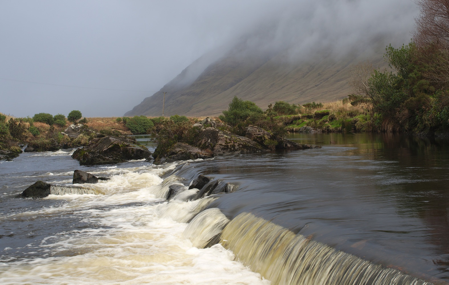 Photo in Landscape #river #mountains #clouds #fog #ireland