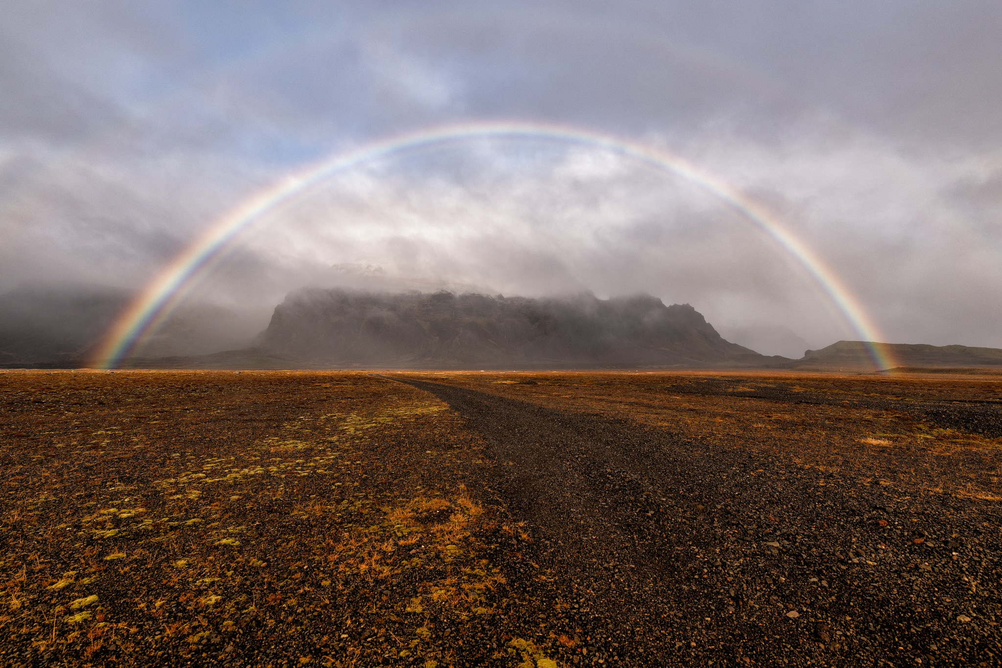 Photo in Nature #rainbow #iceland #nature