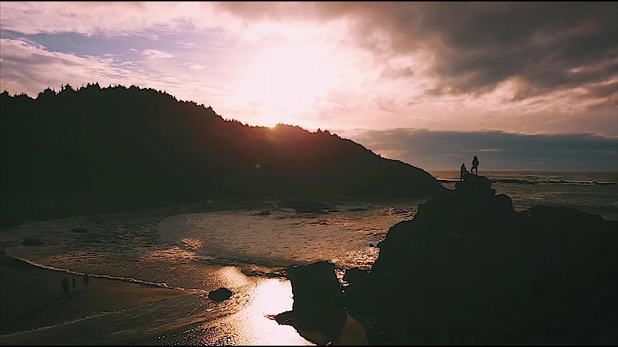 Photo in Landscape #ocean #oregoncoast #drone #explore #dji #mavicpro #oregon #sunset