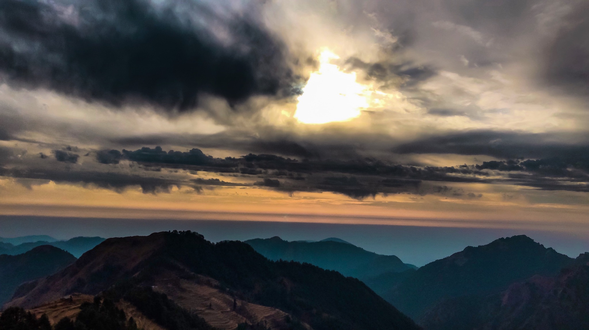 Photo in Random #sunset #hills #view