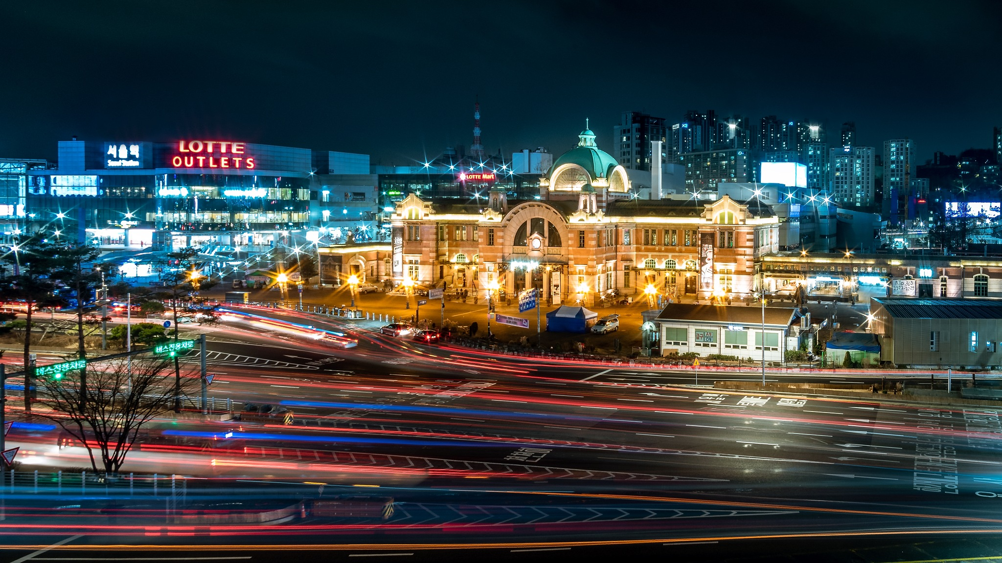 Photo in Random #nightshot #long exposure #seoul #south korea #rush hour #asia #traffic #lights #travelphotography