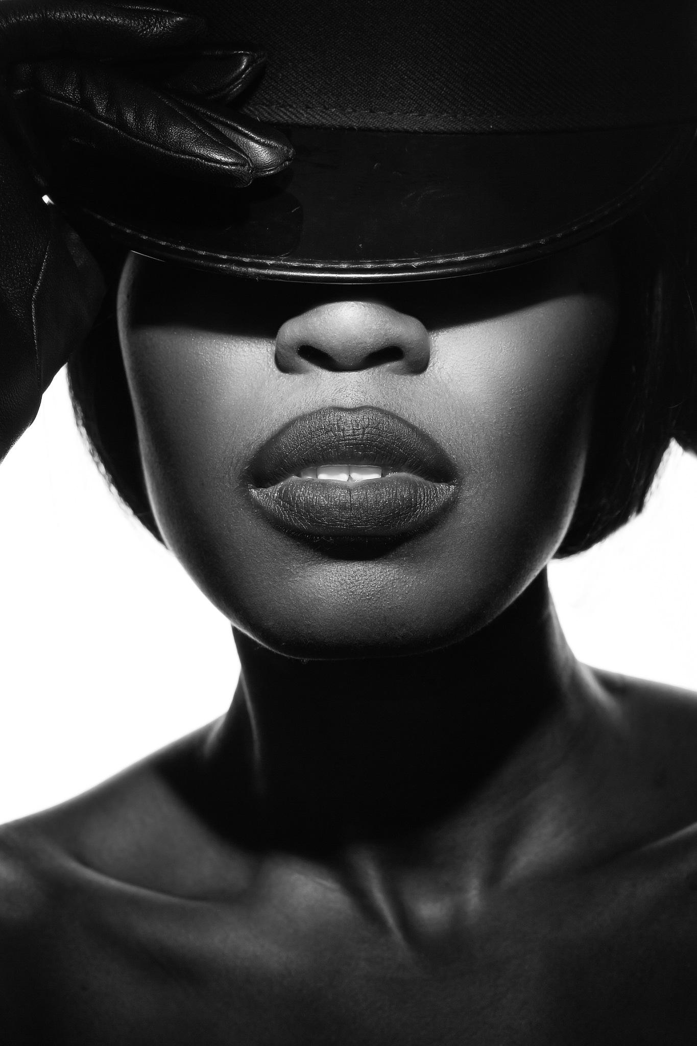 Photo in Portrait #headshot #lighting #portrait #black and white #strobist #model #female