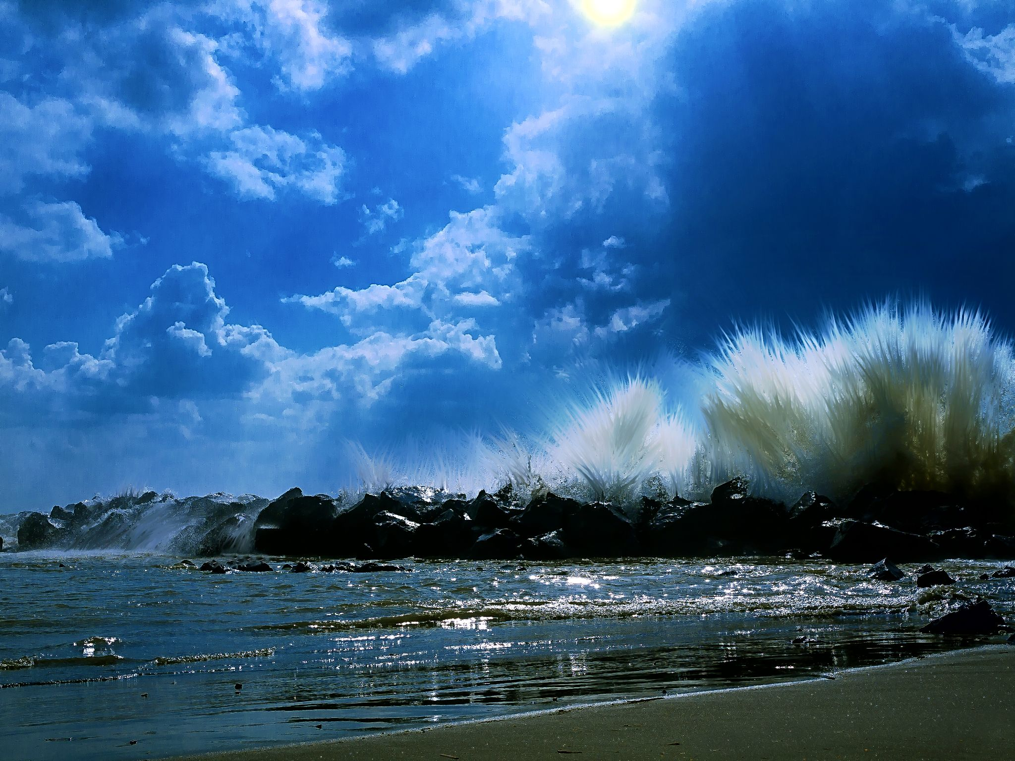 Seaside near Rome by David Owen