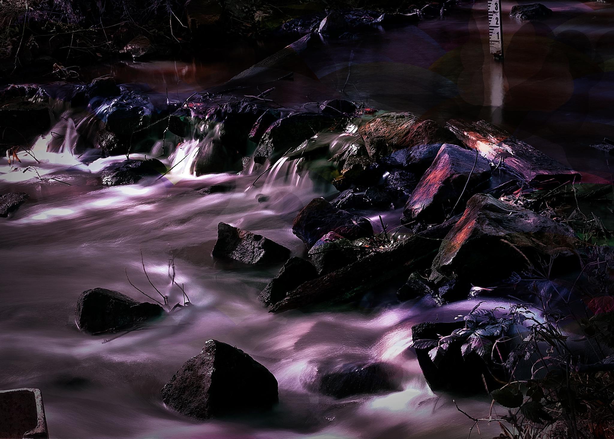 Dappled Sunlight Waterfall by David Owen