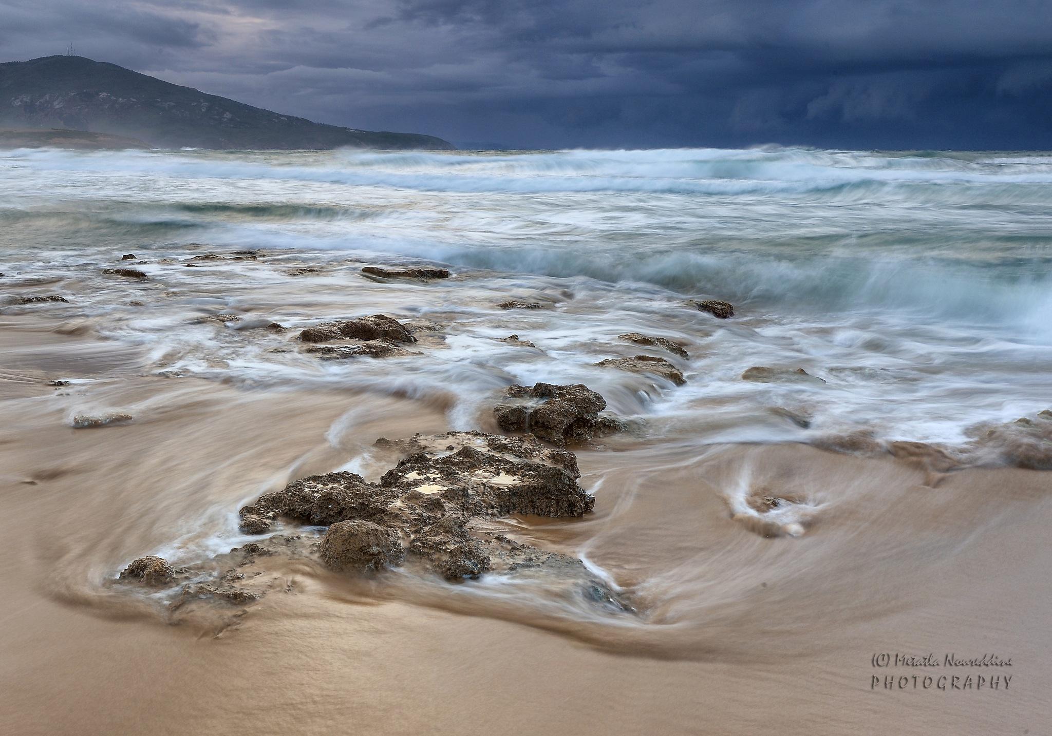 reflets dorés sur la plage de Guerbès by Nordine Metatla