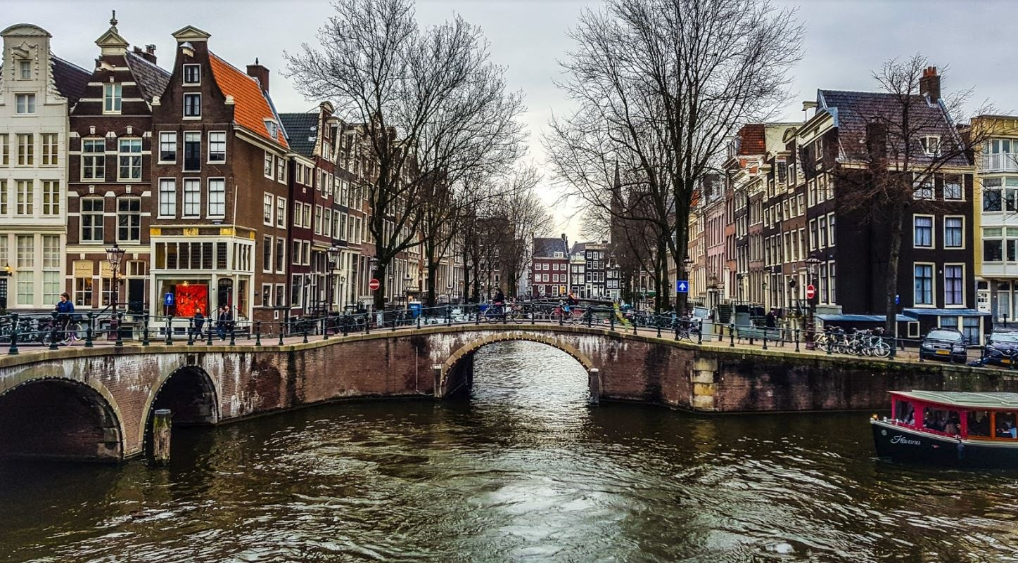 The canals and streets of Amsterdam by Max Darby