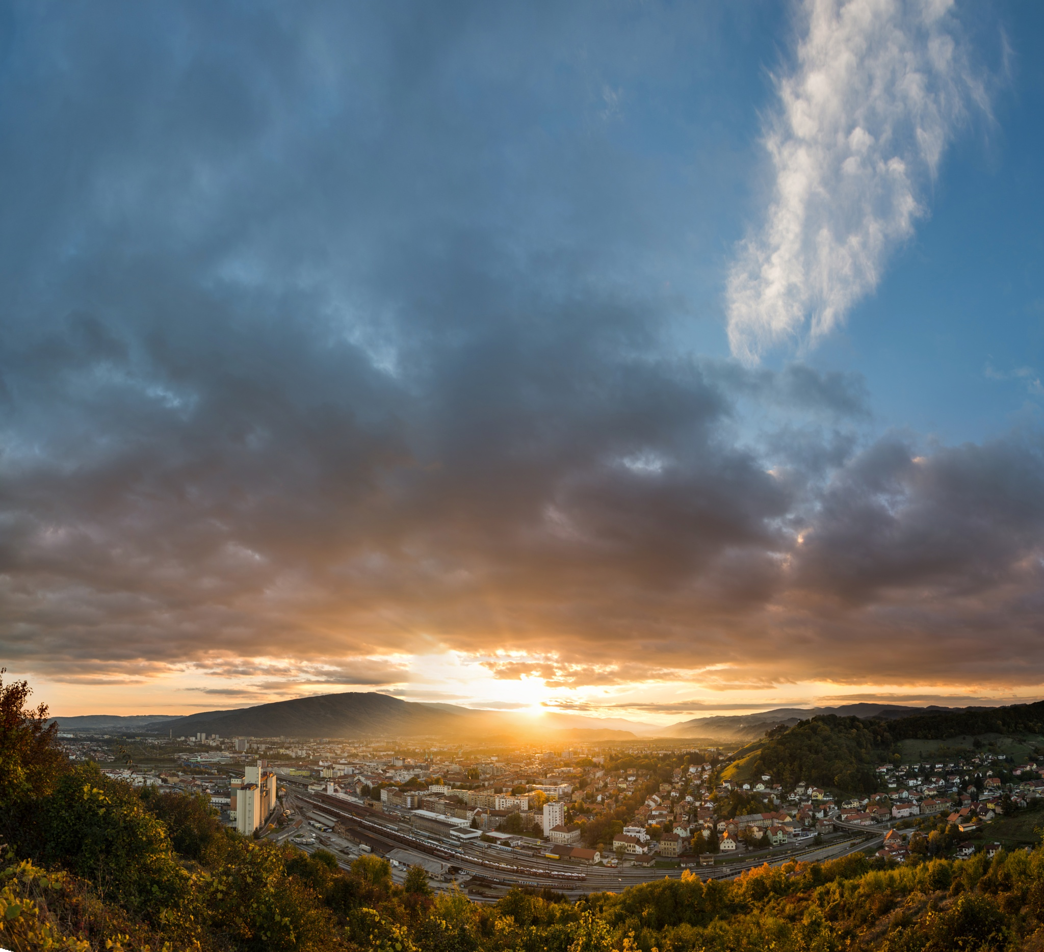 Maribor at sunset by jure kralj