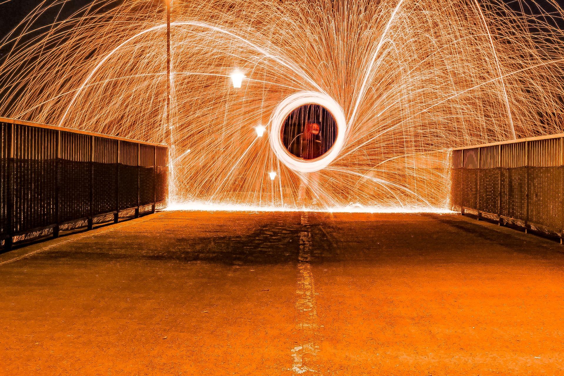 Burning Steelwool by leonbischoff77