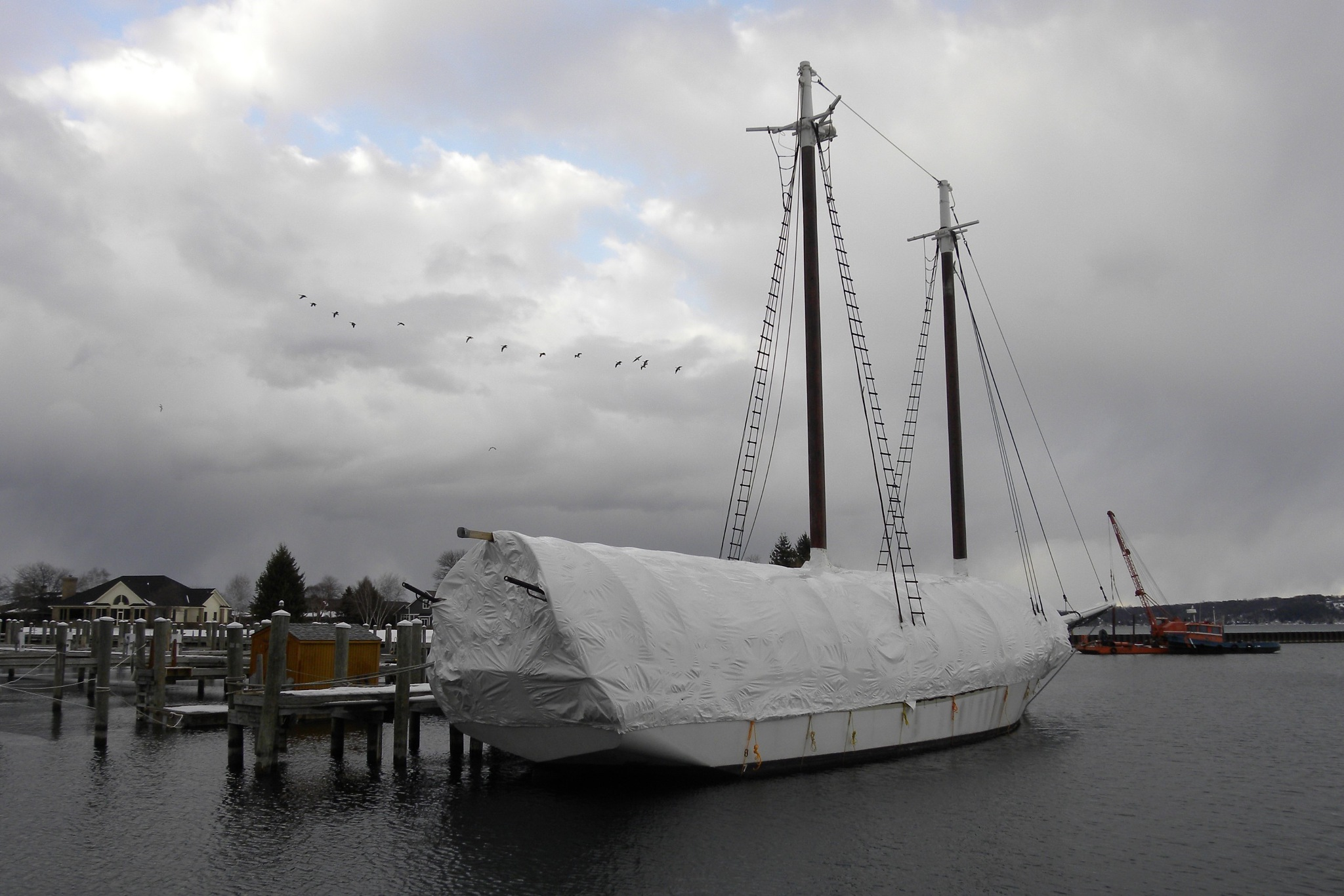 """The Schooner """"Manitou"""" -  View 1                              by Jerry Hallead"""
