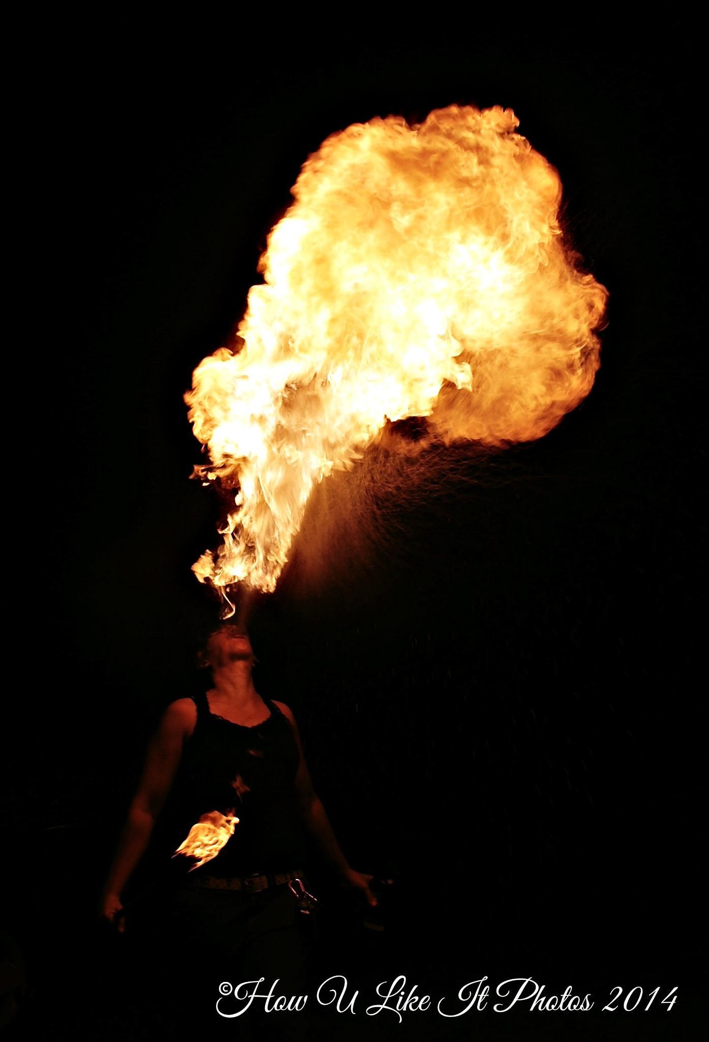 Blowing Fire by Irene