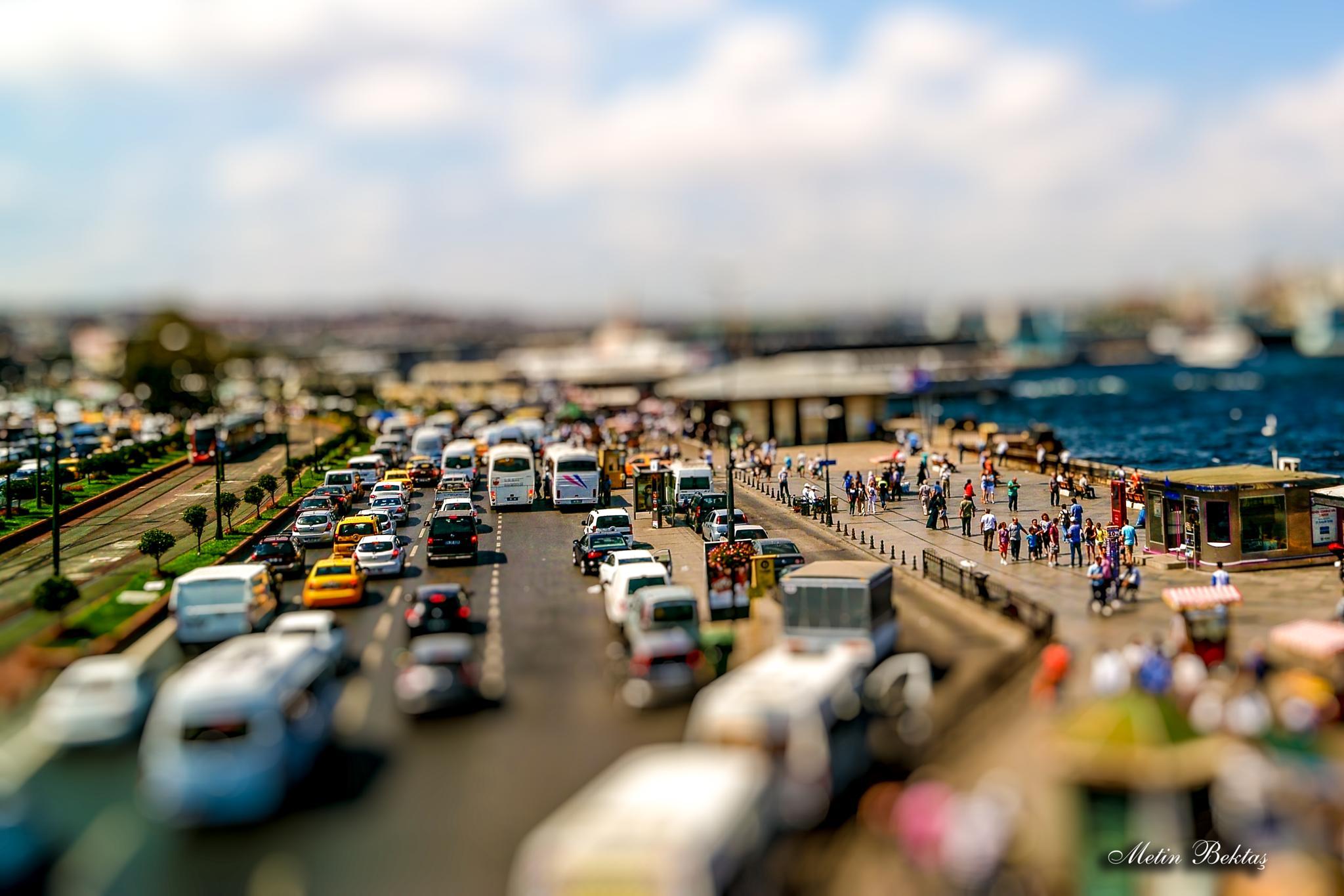 Minyatür (Tilt Shift) Denemeleri  Eminönü / Istanbul by Metin Bektaş