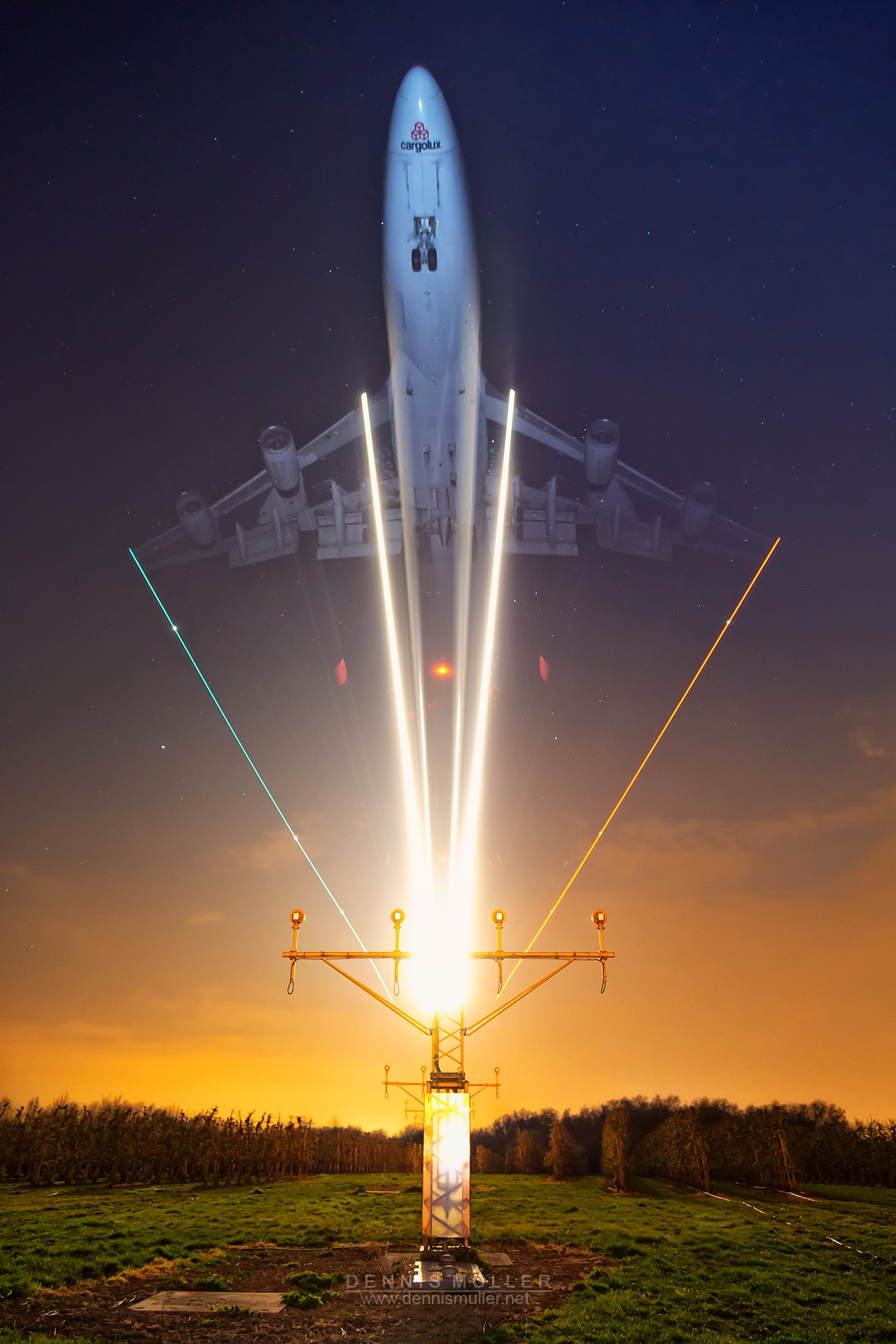 Photo in Travel #aviation #airplane #aircraft #plane #longexposure #flash #boeing #aeroplane #avion #maastricht #speed #transport #transportation #night #travel #cargo