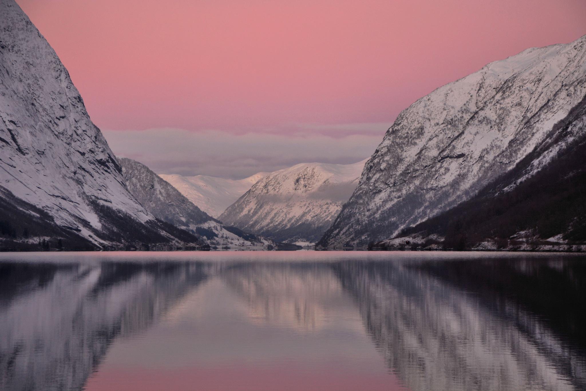 Winter Sunrise, Norway by Mal Dickson