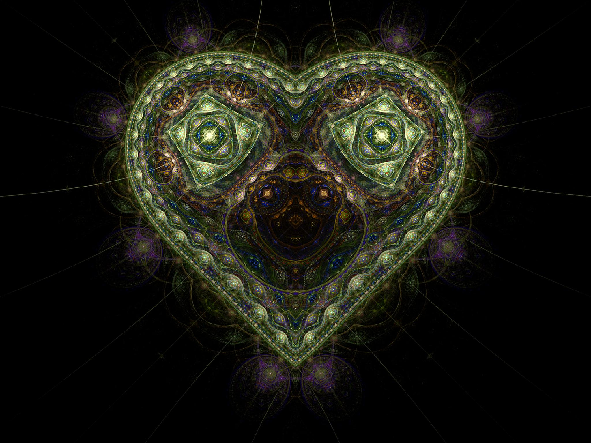 Photo in Abstract #heart #fractal #digital art