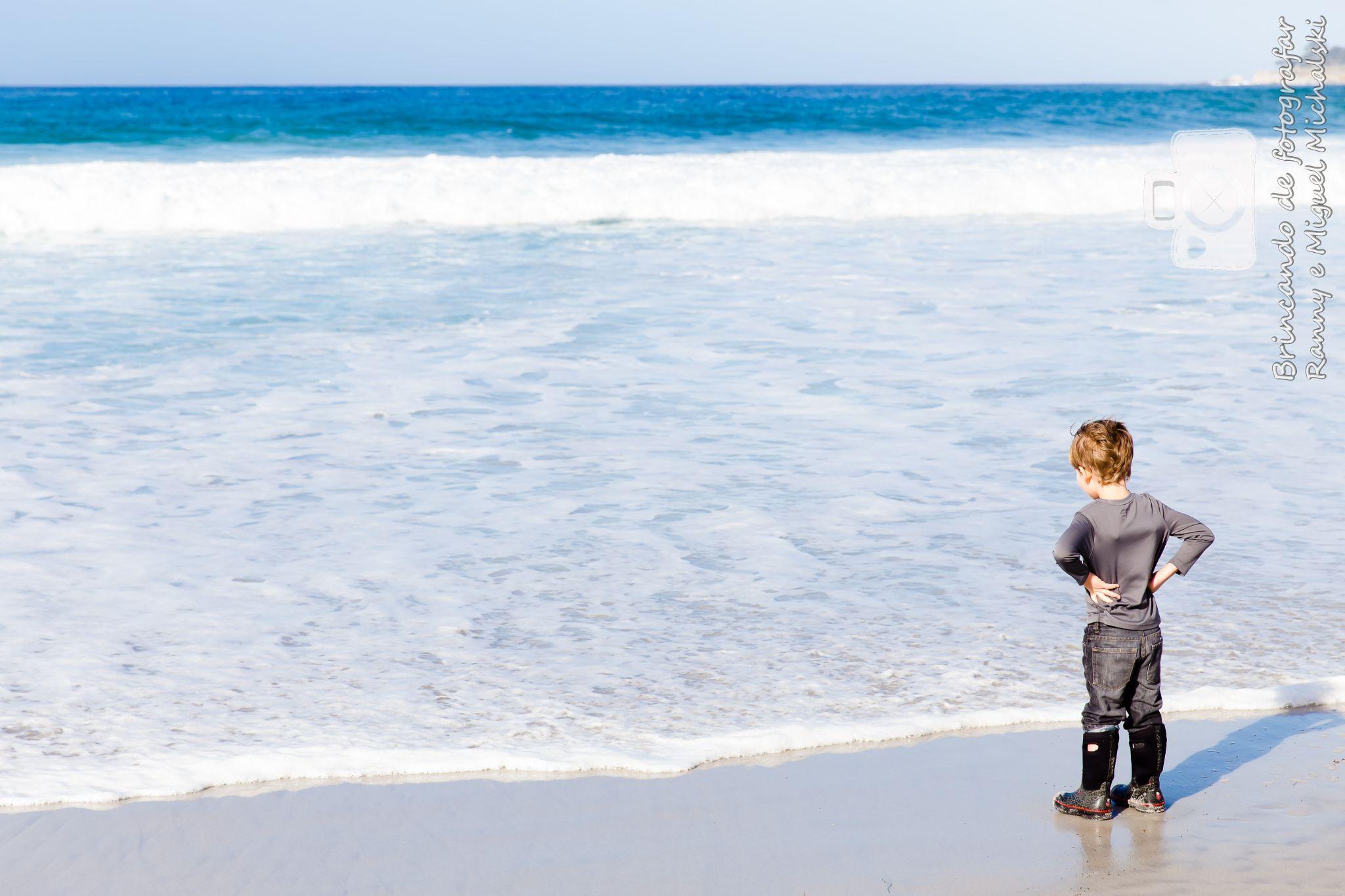 Kid on the beach by Ranny Michalski