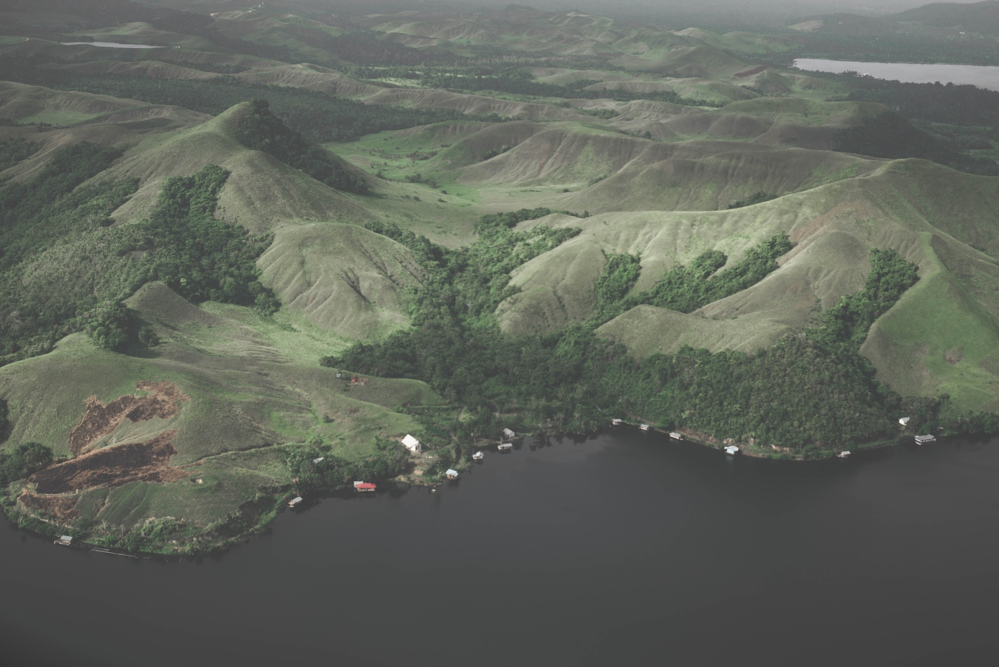 landscape of sentani lake, jayapura,papua,Indonesia by Imanuelsawaki