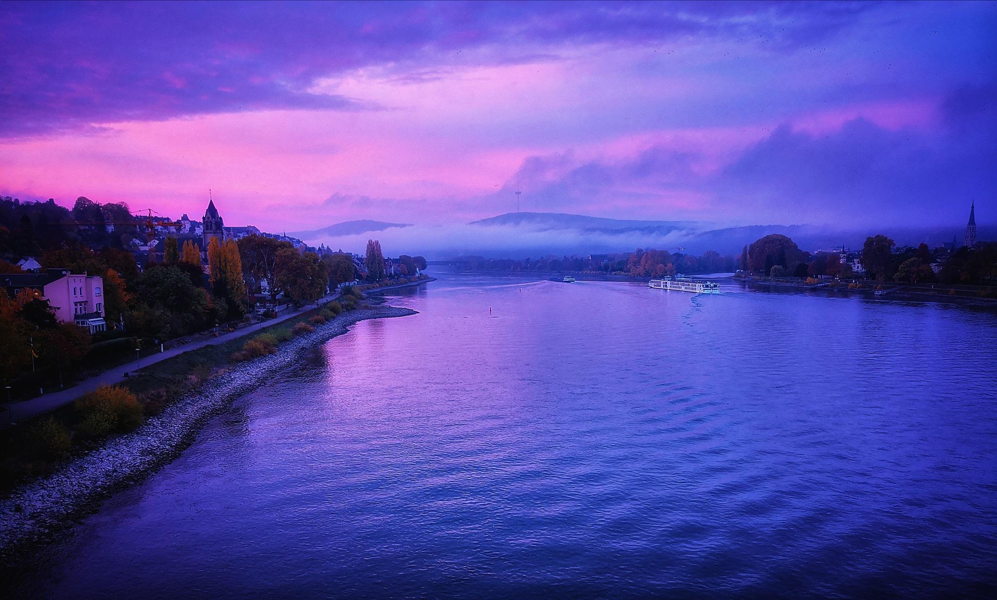 Purple Rhine by David Achtstein