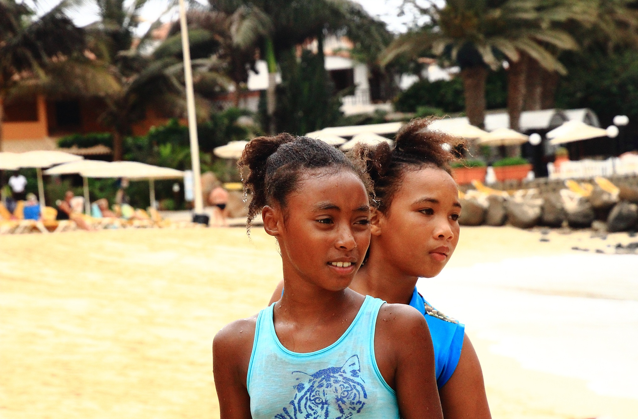 Beach girls by Isabel Sottomayor