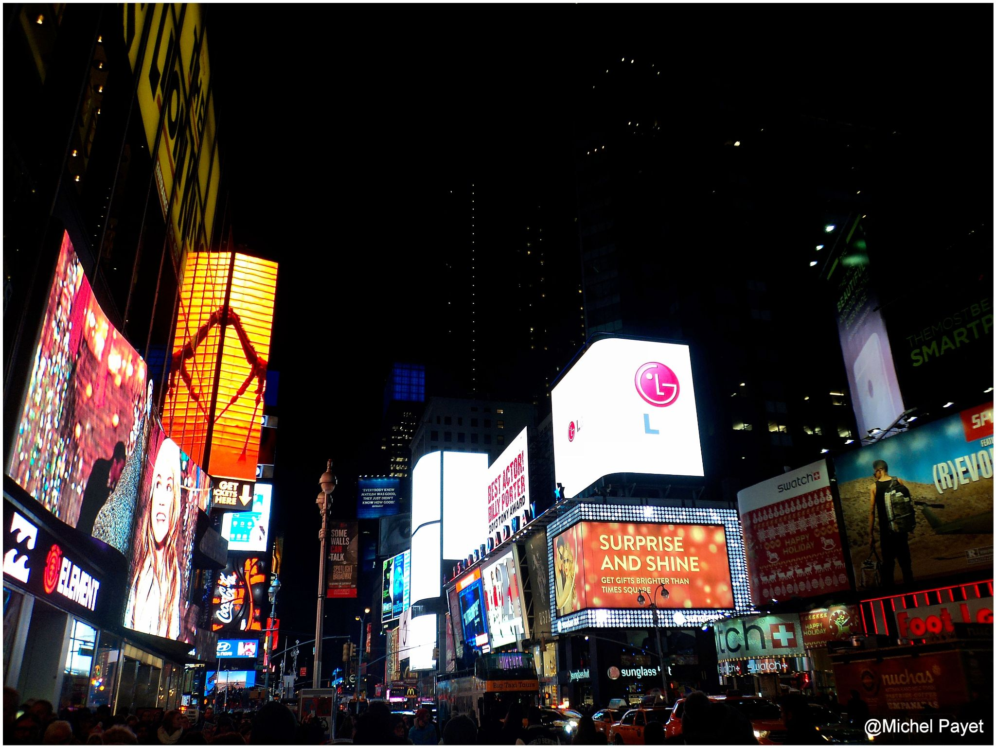 Time...Square! New York city! by Michel Payet