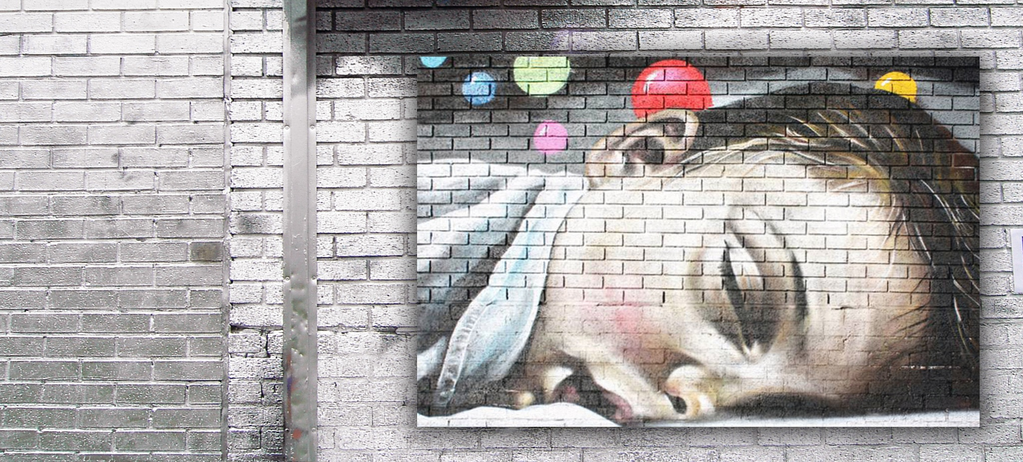 Photo in Street Photography #digitally manipulated #painting #street art #vandalised wall