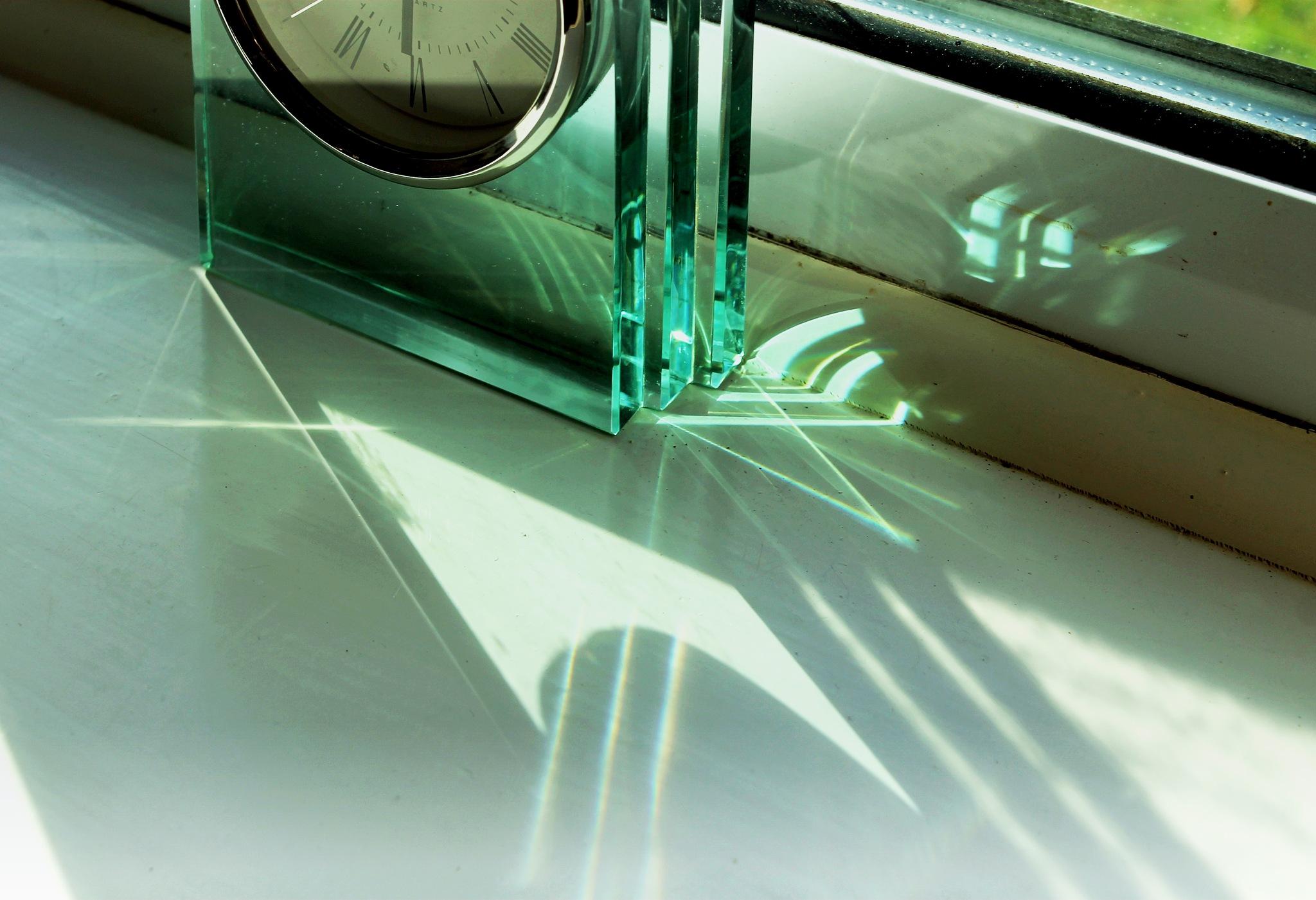 Refracted light from the clock  by Helen Burridge