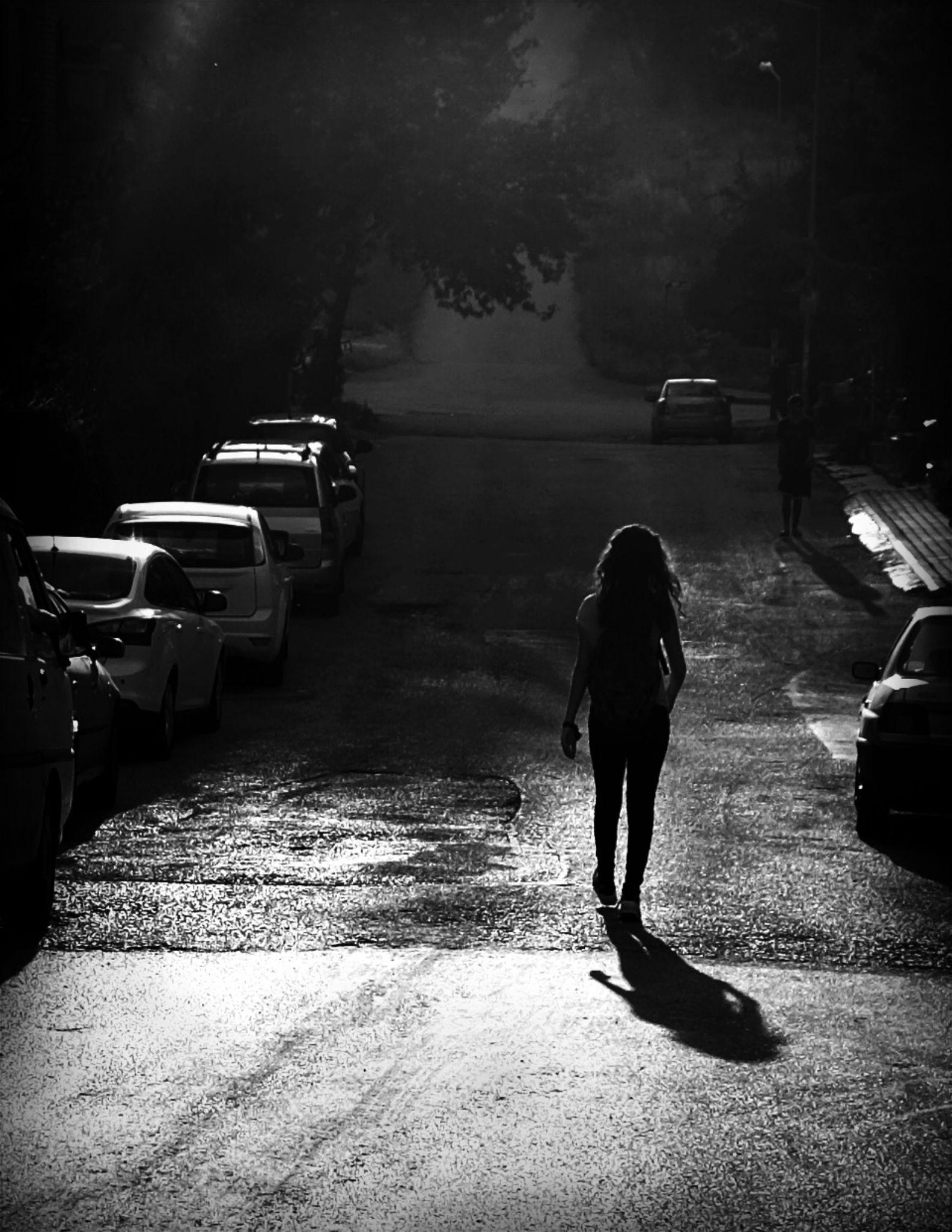 At dusk, people by Ziya YILDIRIM