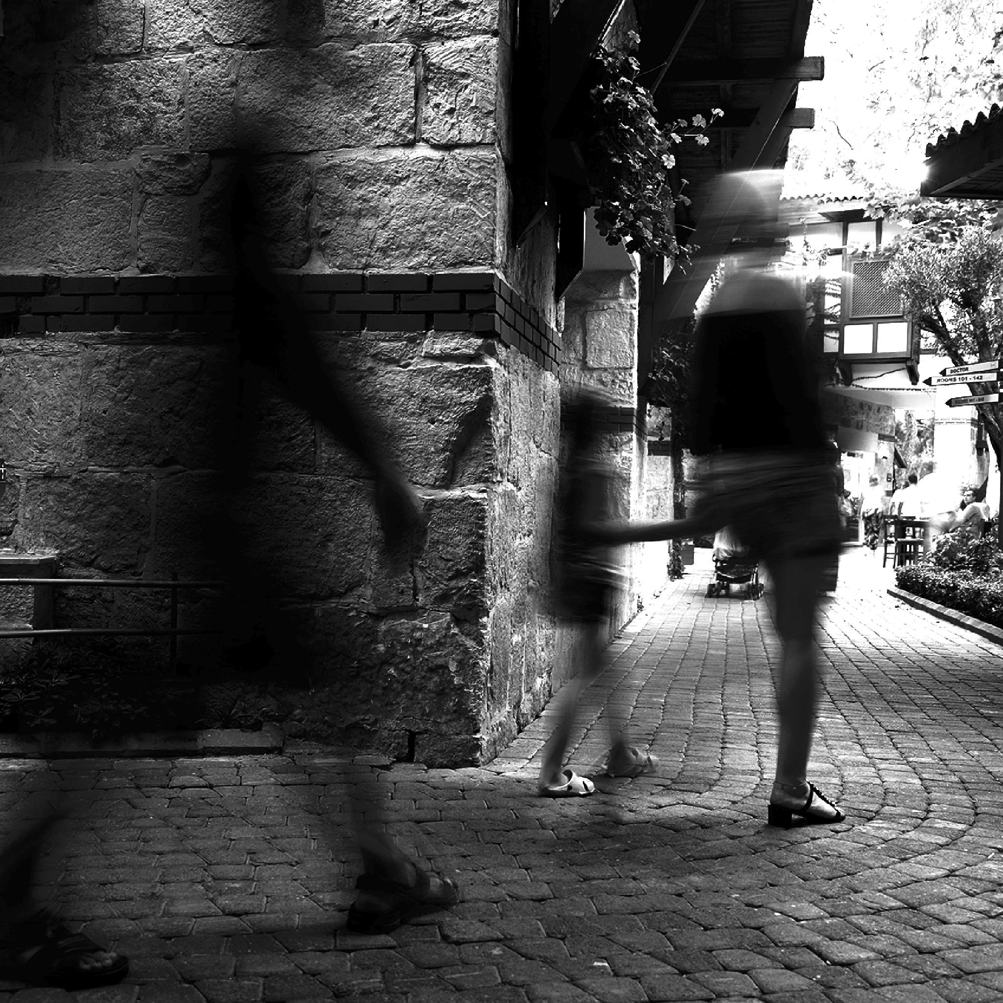 Photo in Black and White #street #people #silhouettes