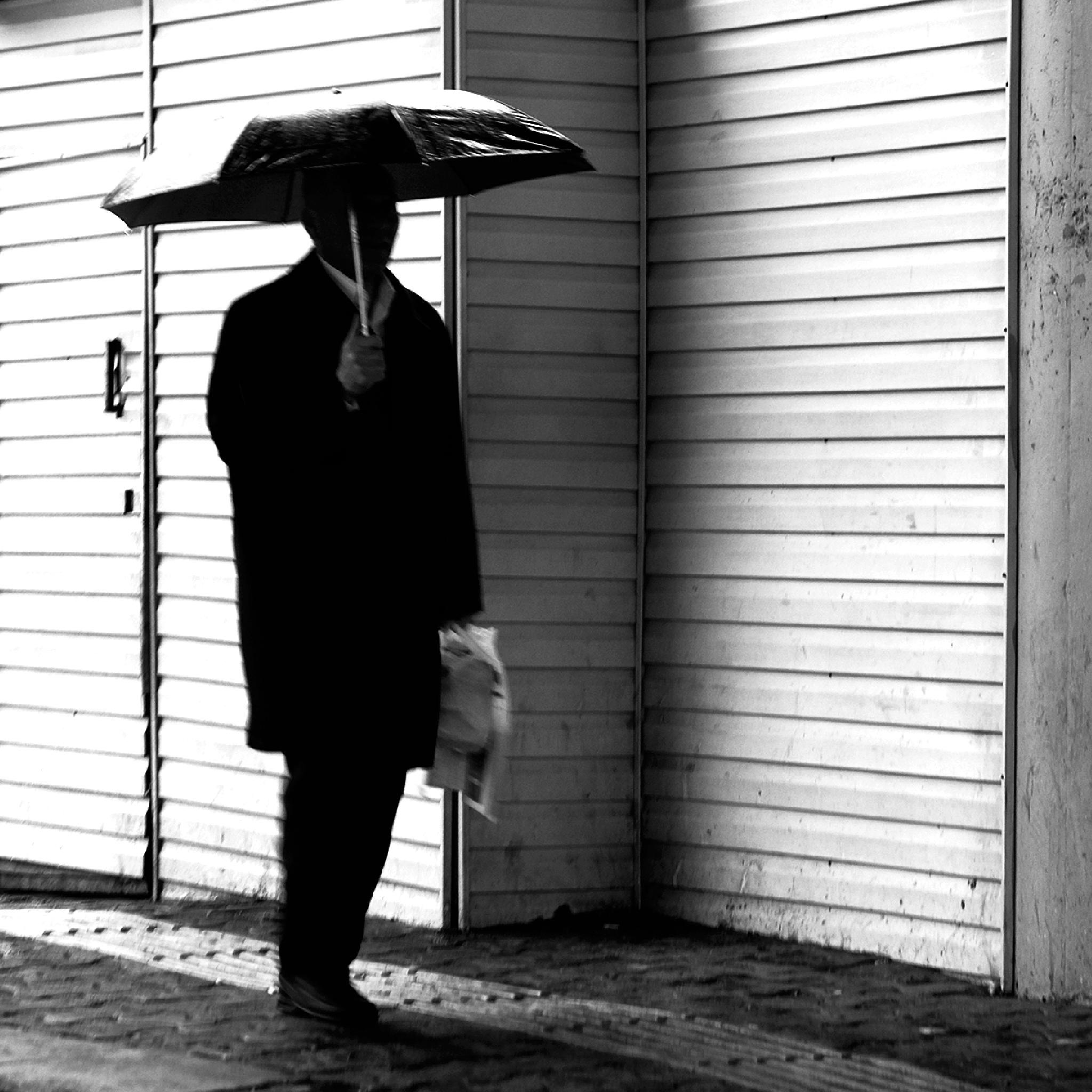Photo in Black and White #street #people #autumn #sadness