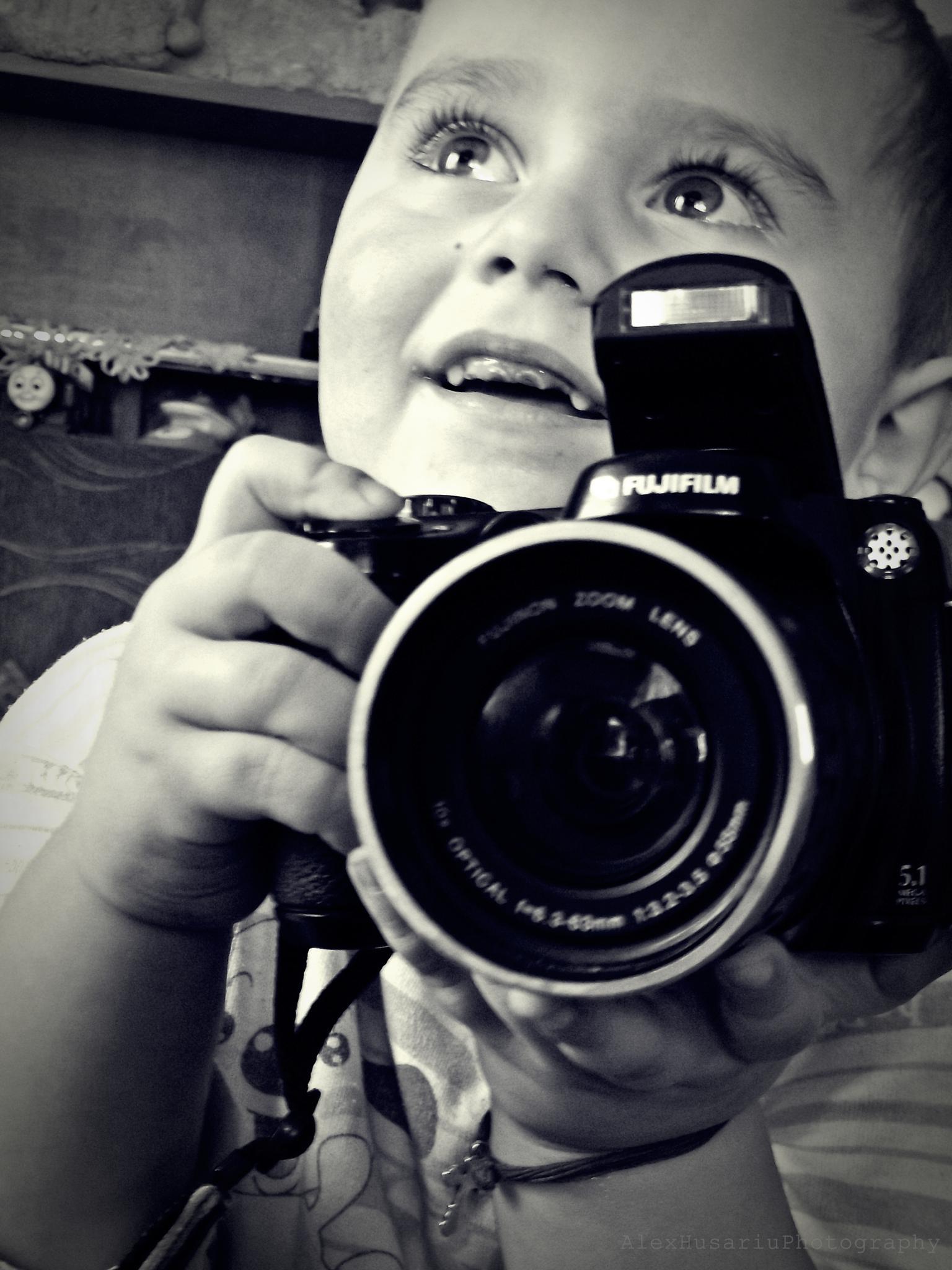 little photographer by Alex Ionut Husariu